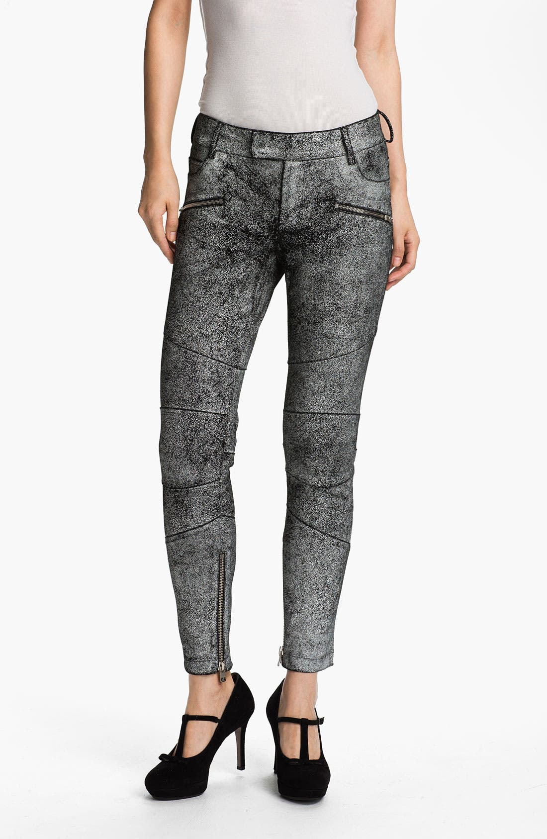 Alternate Image 1 Selected - Skaist-Taylor Cracked Leather Moto Pants