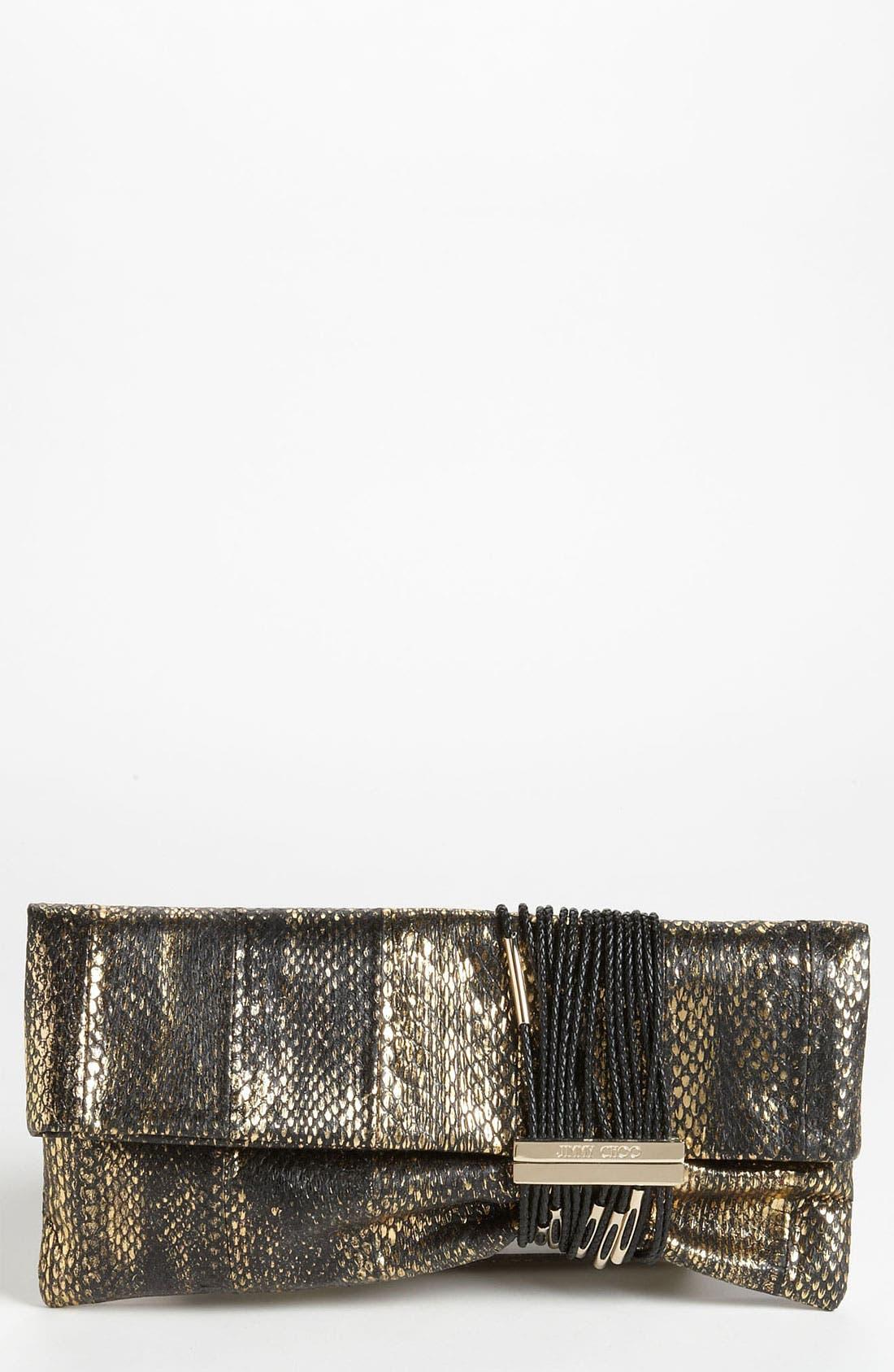 Alternate Image 1 Selected - Jimmy Choo 'Chandra Elaphe' Genuine Snakeskin Clutch