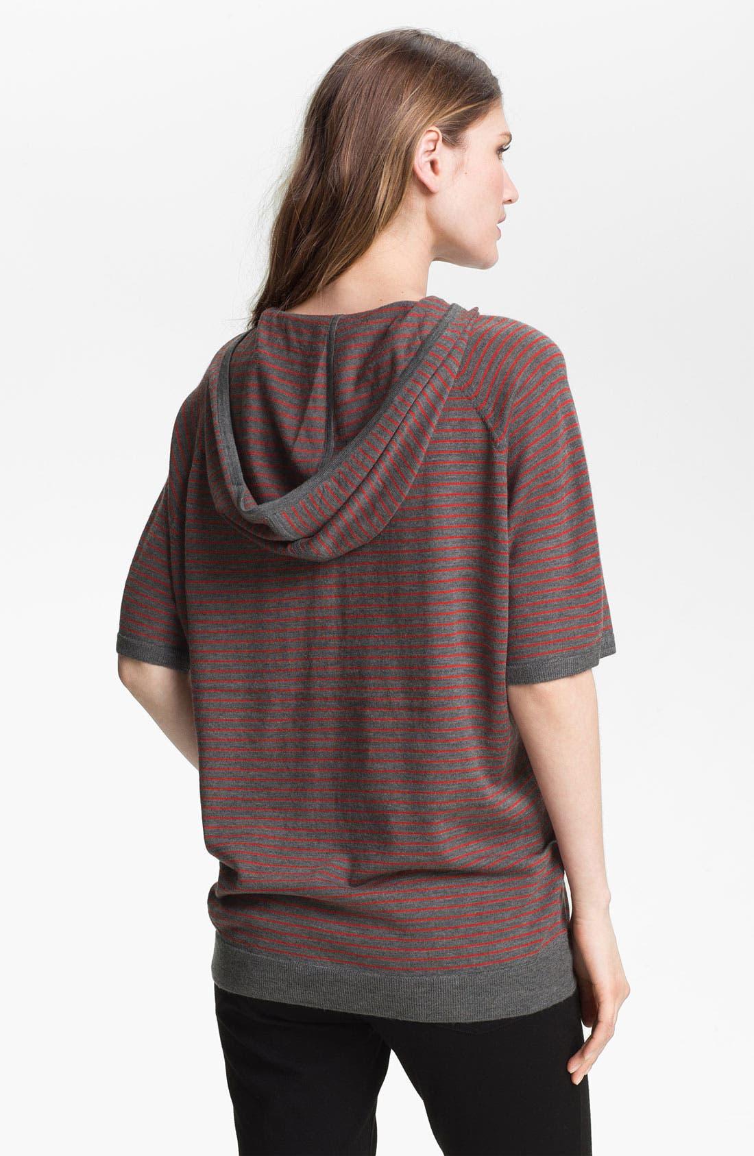Alternate Image 2  - Eileen Fisher Short Sleeve Hooded Merino Top