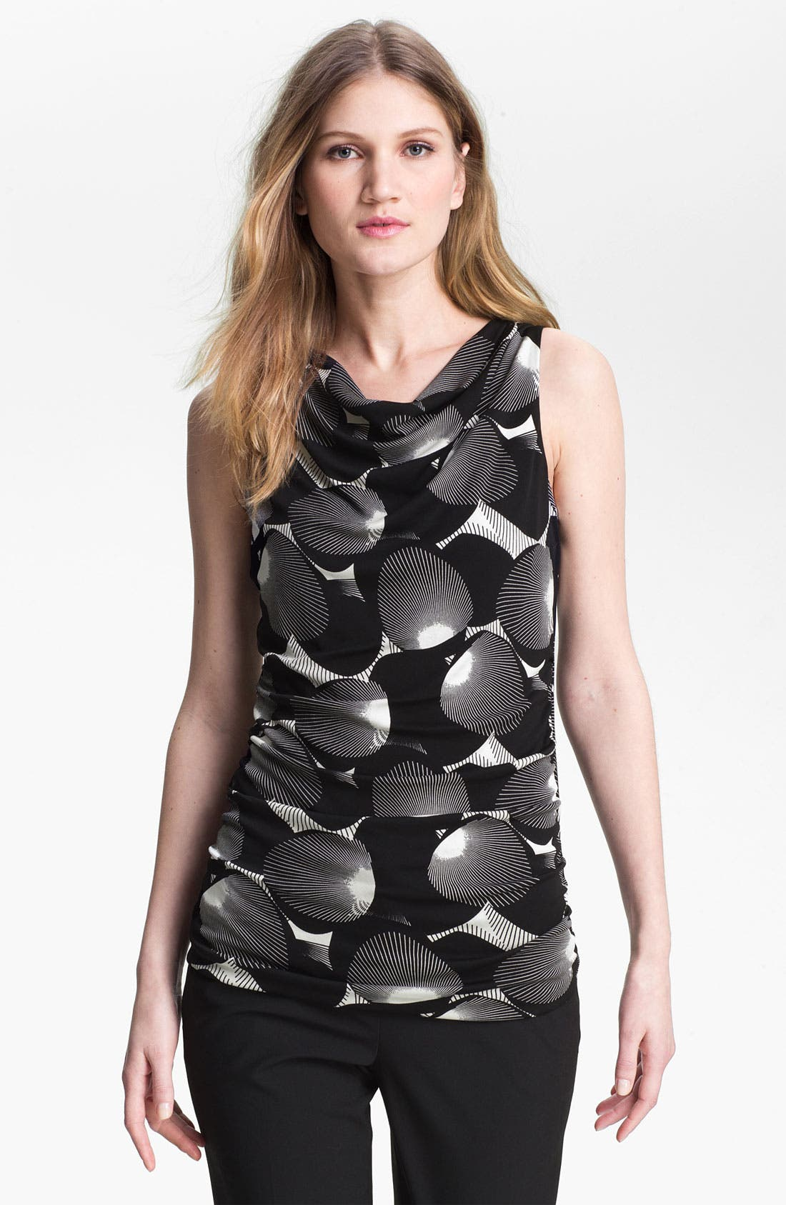 Alternate Image 1 Selected - Classiques Entier® Print Silk Jersey Top
