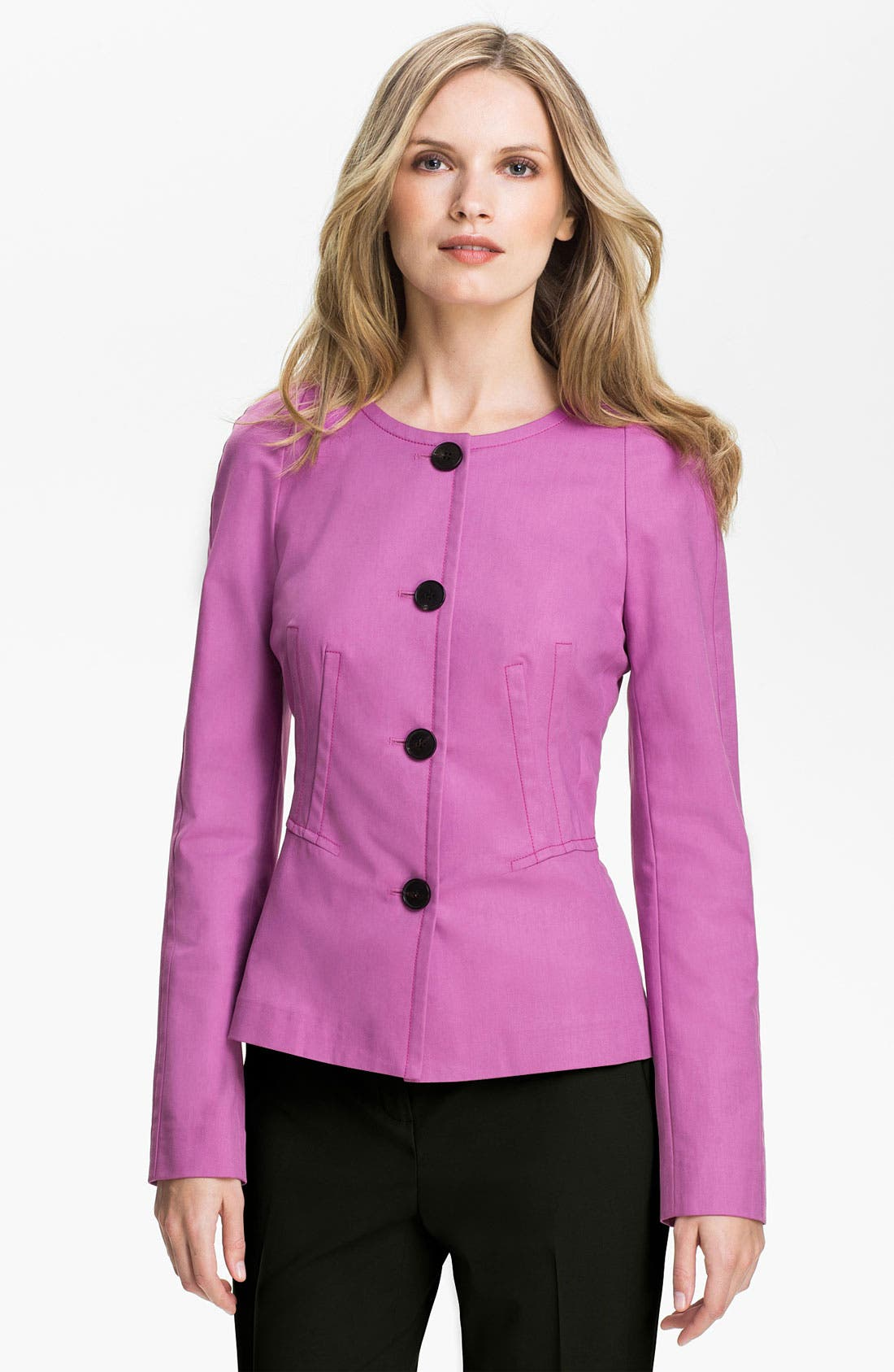 Main Image - Lafayette 148 New York 'Cailey Metropolitan Stretch' Jacket