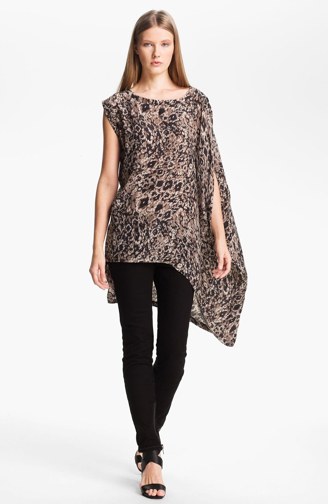 Alternate Image 1 Selected - Rachel Zoe 'Graham' Drape Sleeve Silk Top