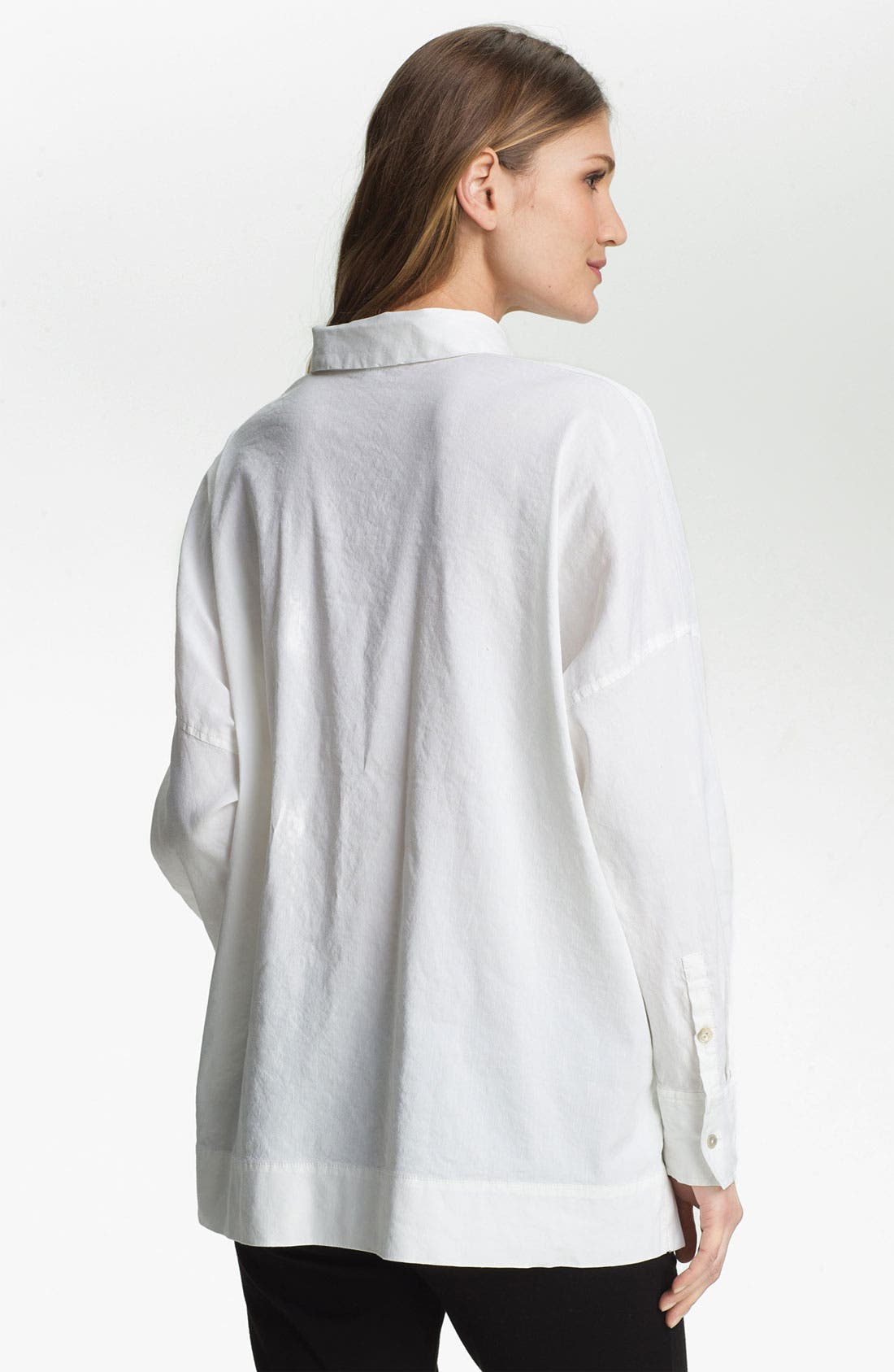 Alternate Image 2  - Eileen Fisher Stretch Linen Blend Shirt