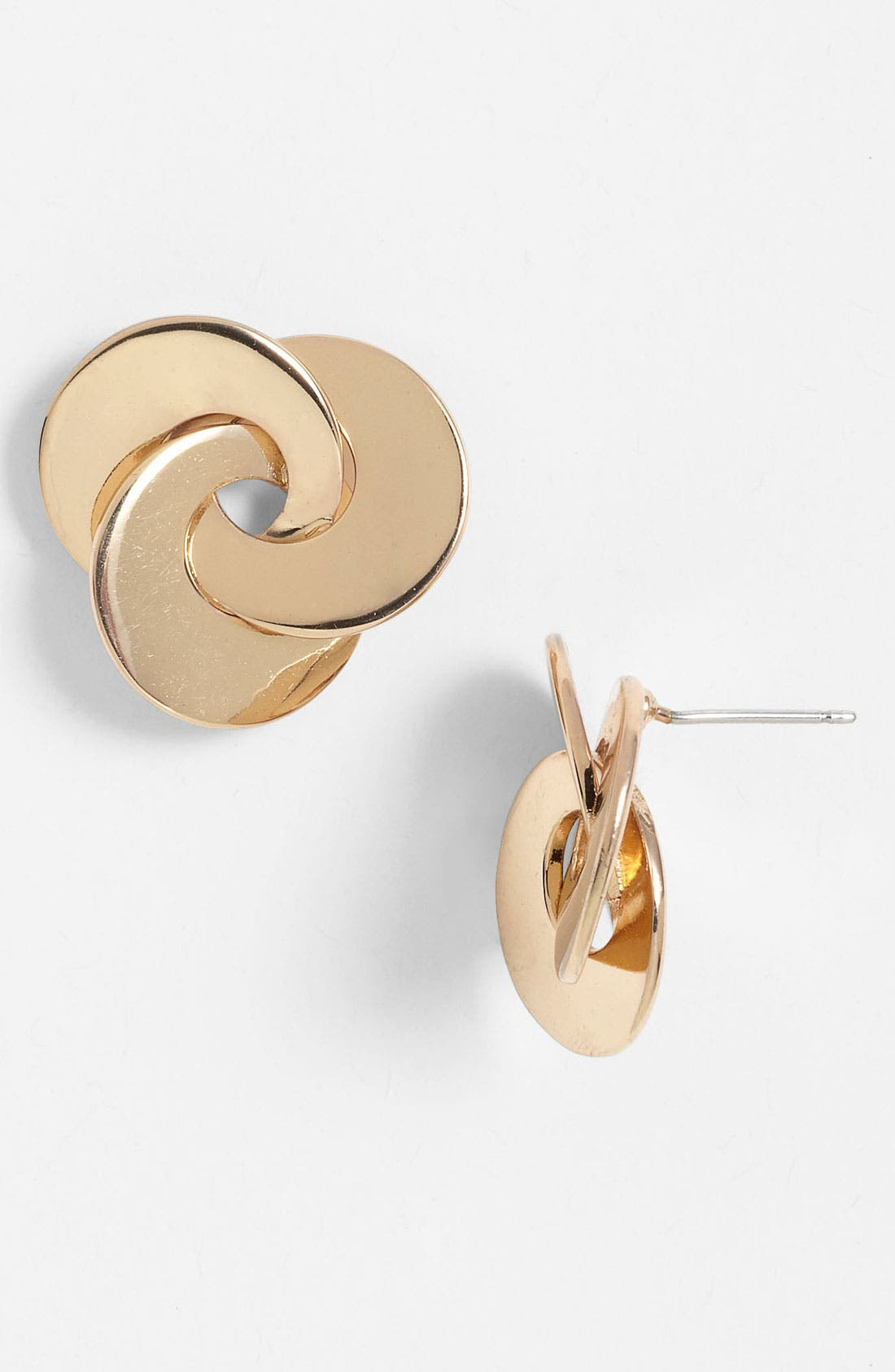 Alternate Image 1 Selected - Anne Klein Intertwined Knot Stud Earrings
