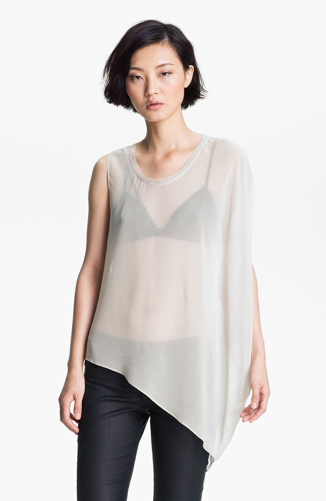 Main Image - HELMUT Helmut Lang 'Ghost Silk' Asymmetrical Top