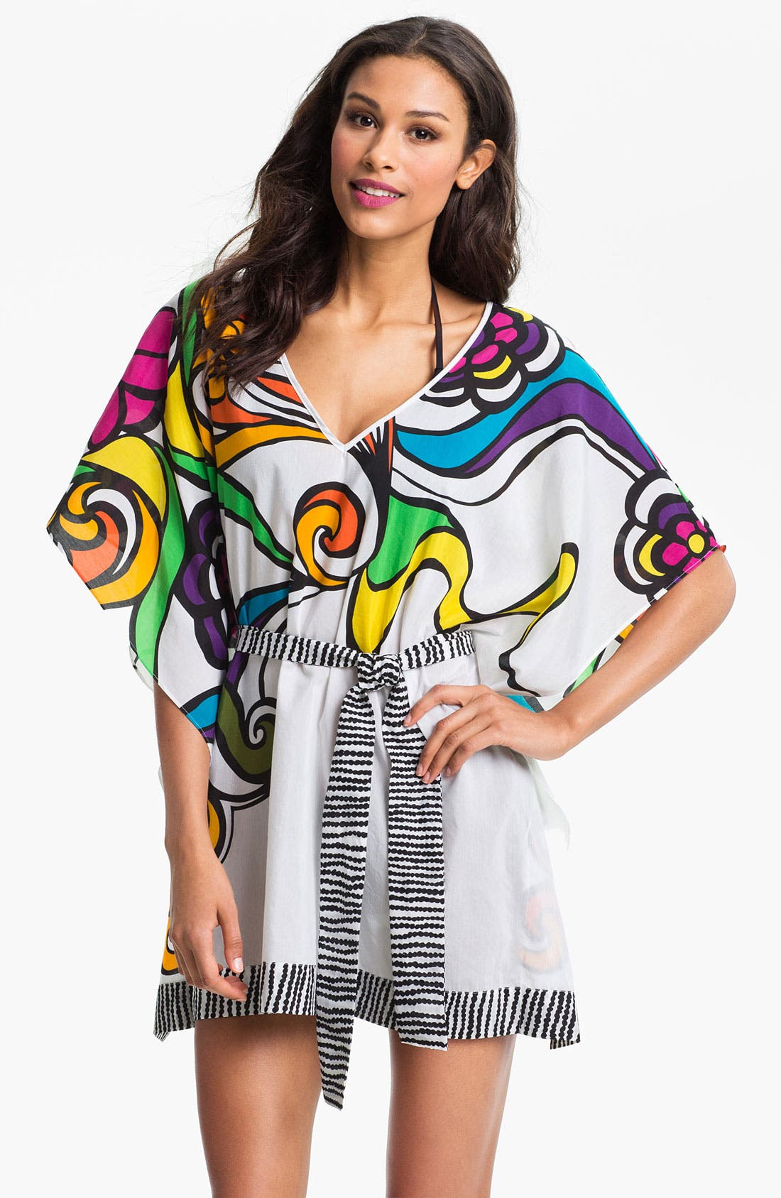 Alternate Image 1 Selected - Trina Turk 'Aquarius' Cotton & Silk Tunic