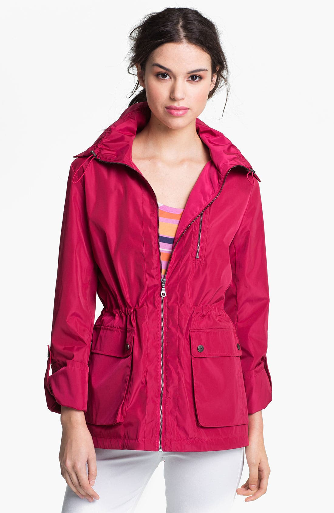 Alternate Image 1 Selected - DKNY Roll Sleeve Anorak