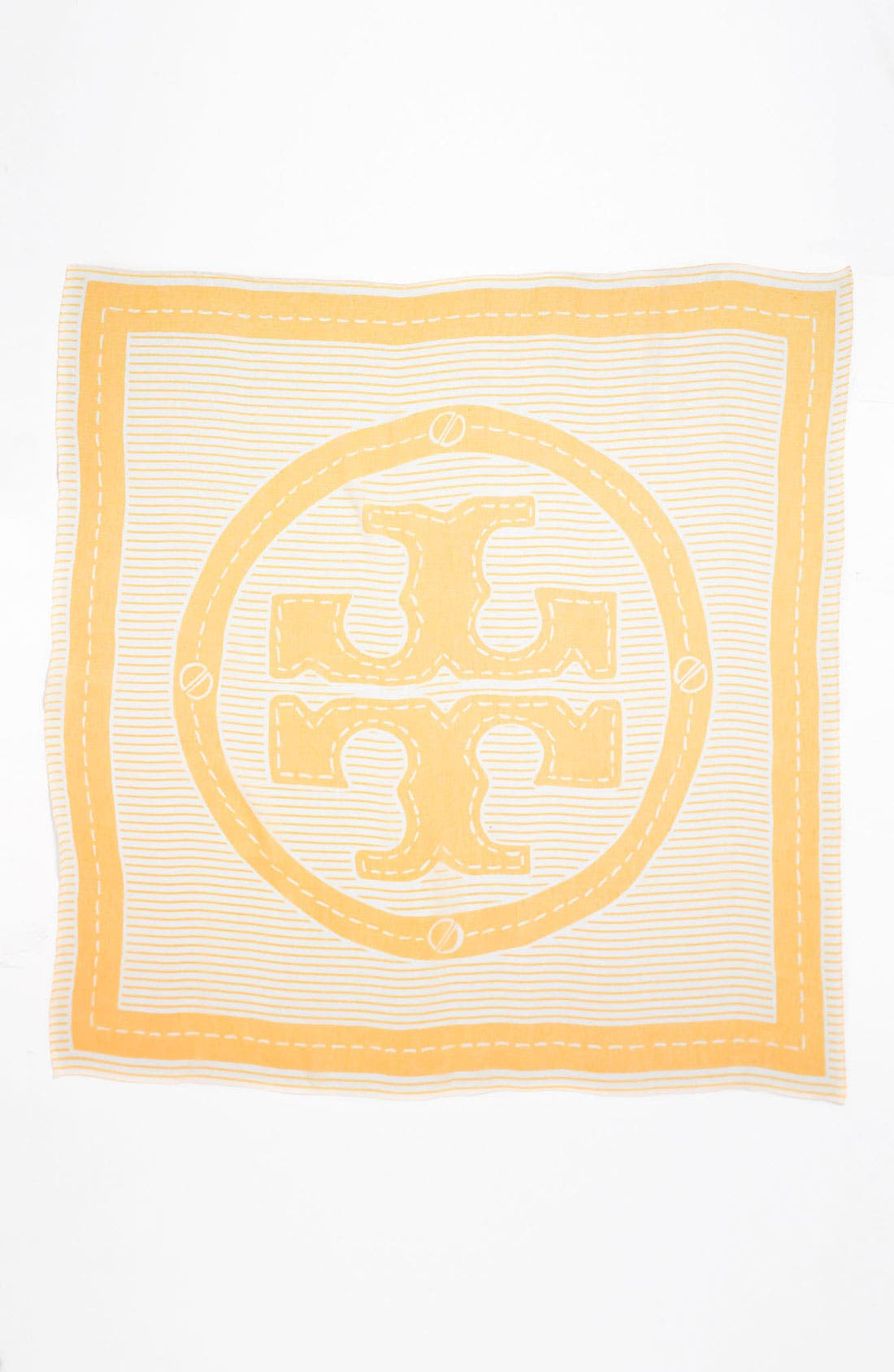 Main Image - Tory Burch 'Stripe Stacked Logo' Scarf