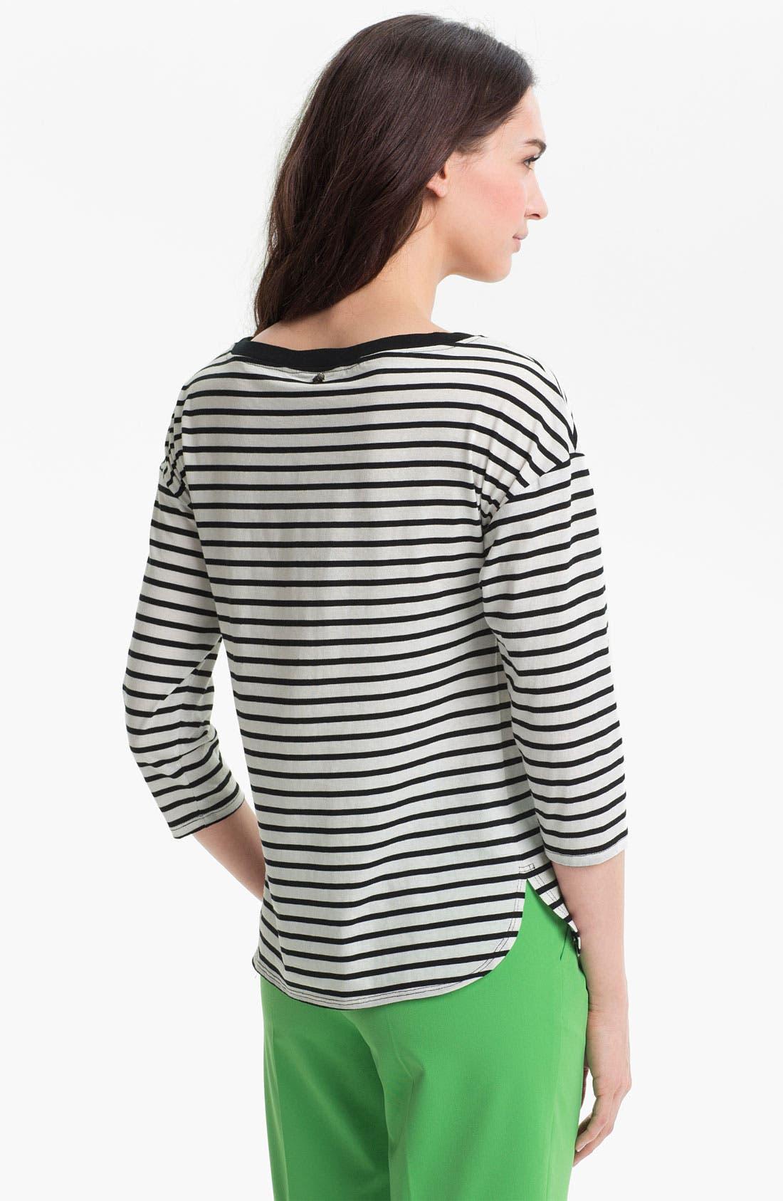 Alternate Image 2  - Trina Turk Stripe Jersey Top