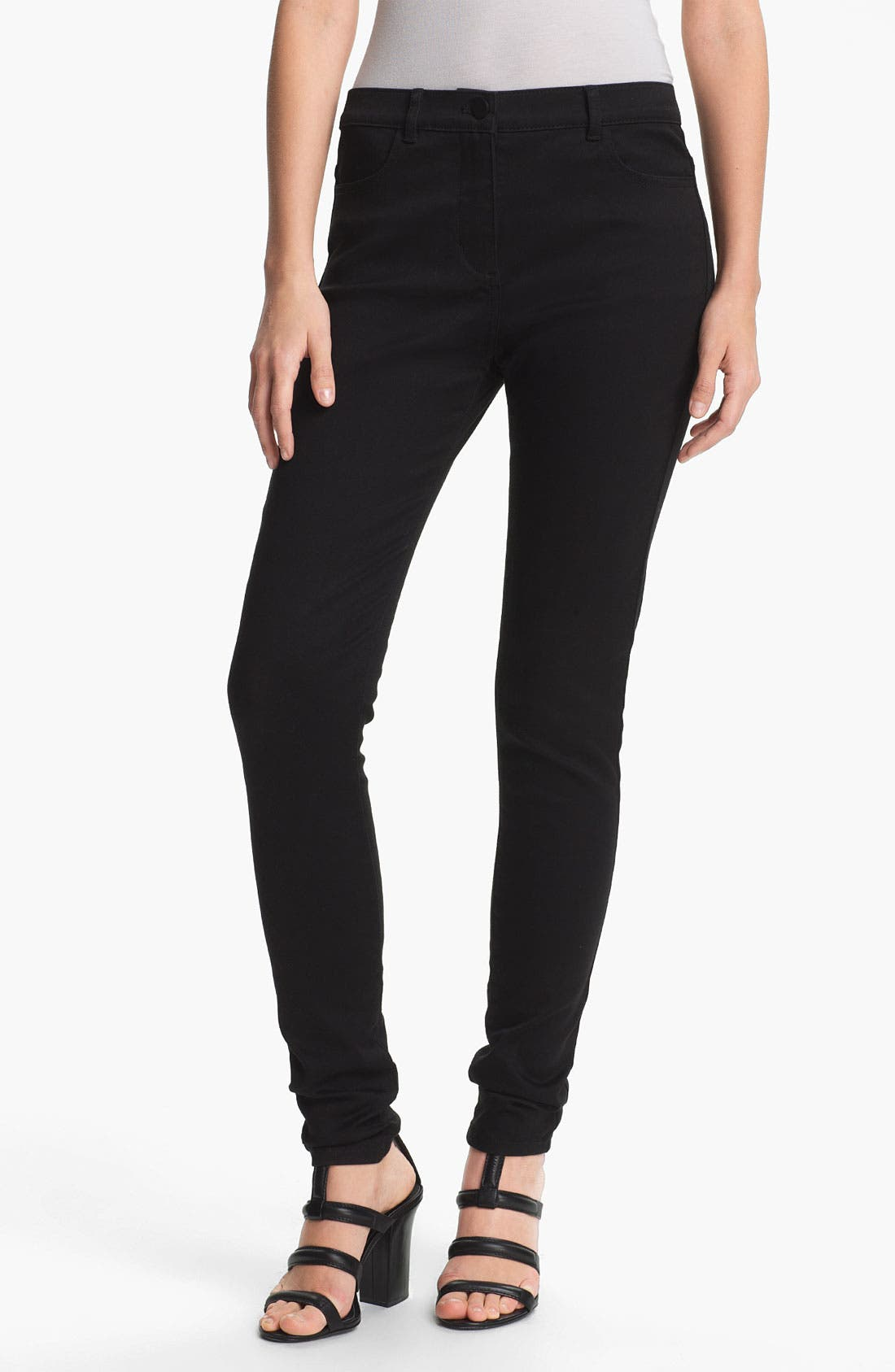Alternate Image 1 Selected - T by Alexander Wang High Waist Stretch Sateen Jeans
