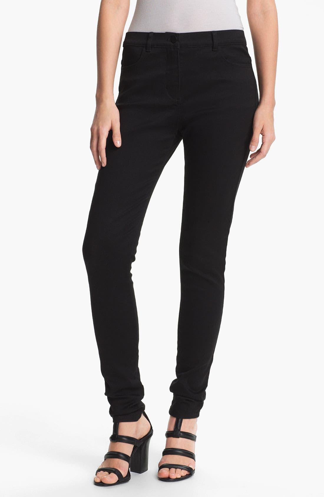 Main Image - T by Alexander Wang High Waist Stretch Sateen Jeans