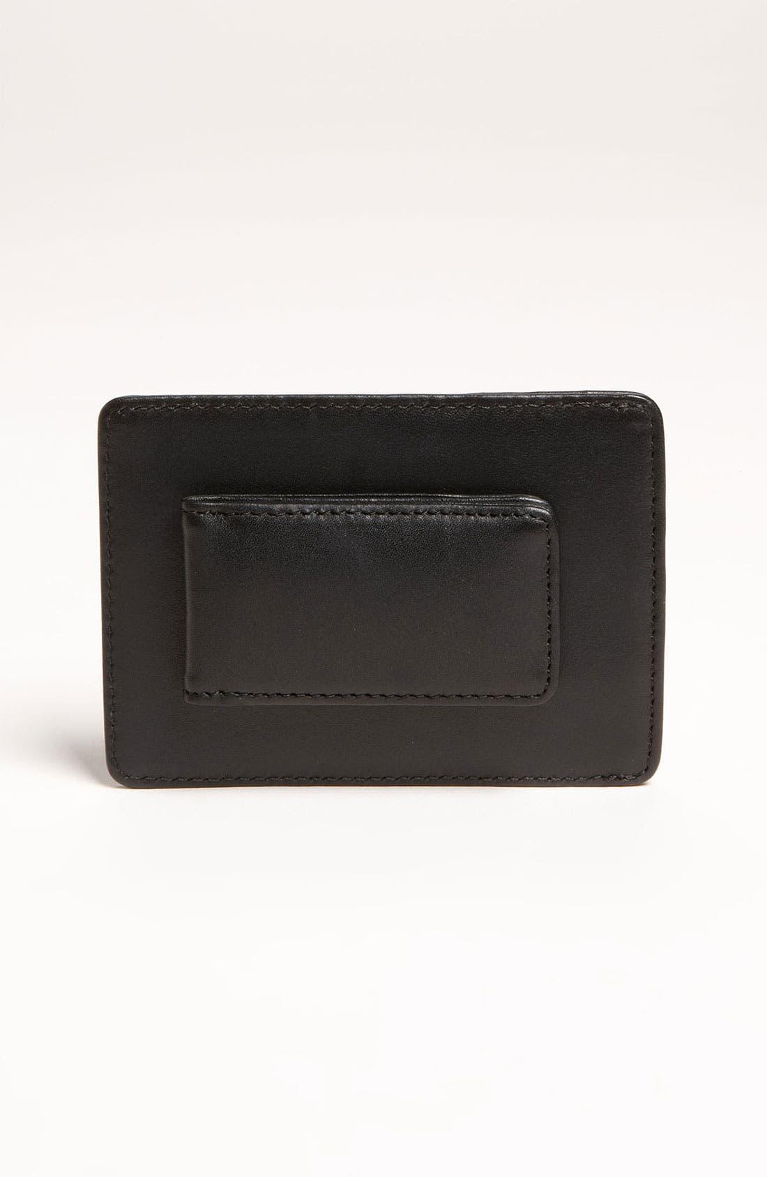 Alternate Image 2  - Bosca Leather Money Clip Card Case