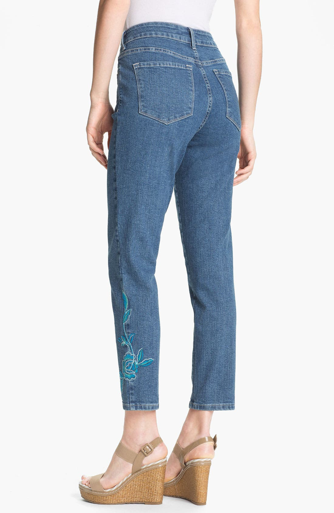 Alternate Image 2  - NYDJ 'Alisha' Embroidered Skinny Stretch Ankle Jeans