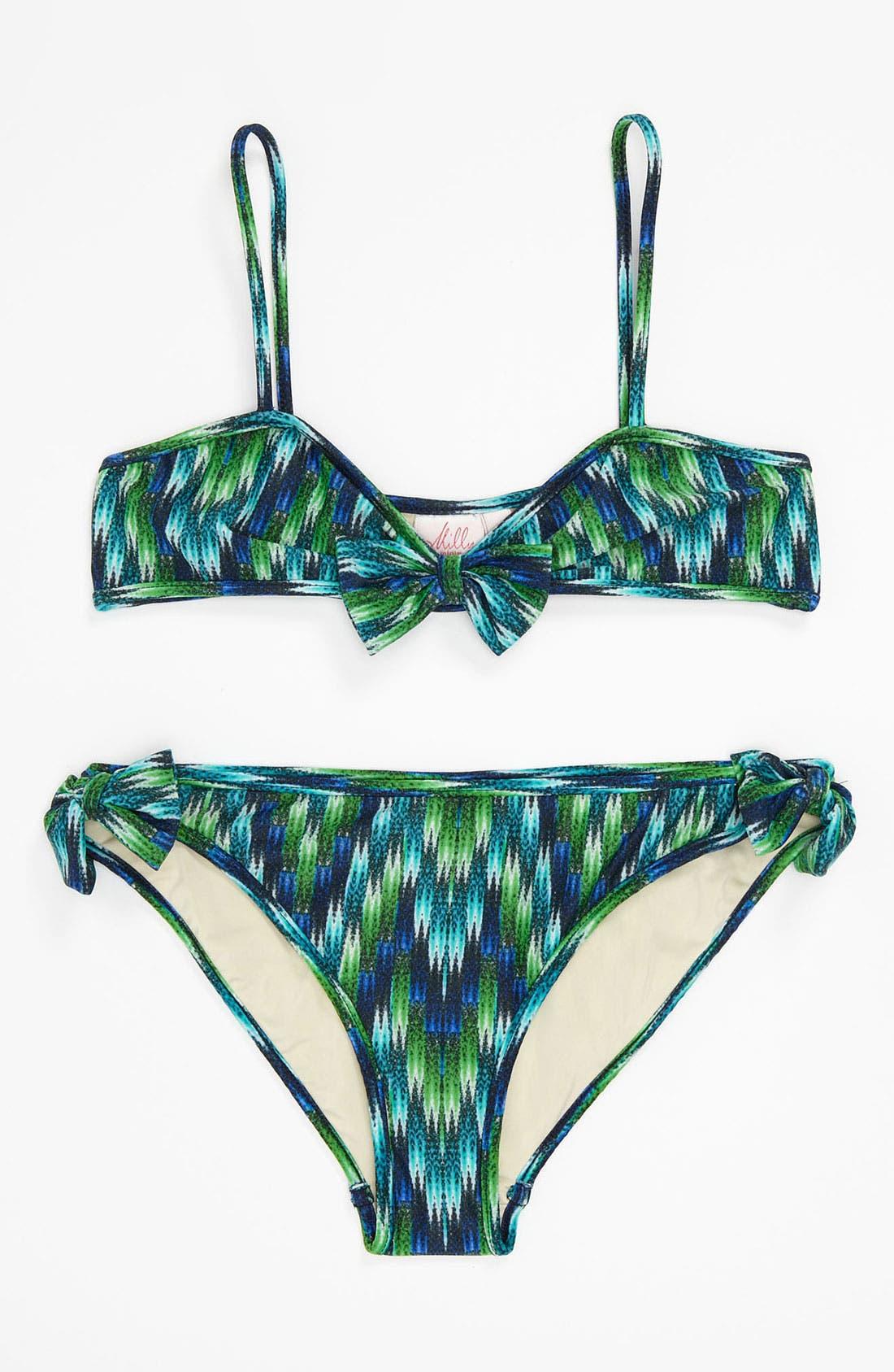 Alternate Image 1 Selected - Milly Minis 'Sagaponack' Two Piece Bikini Swimsuit (Big Girls)