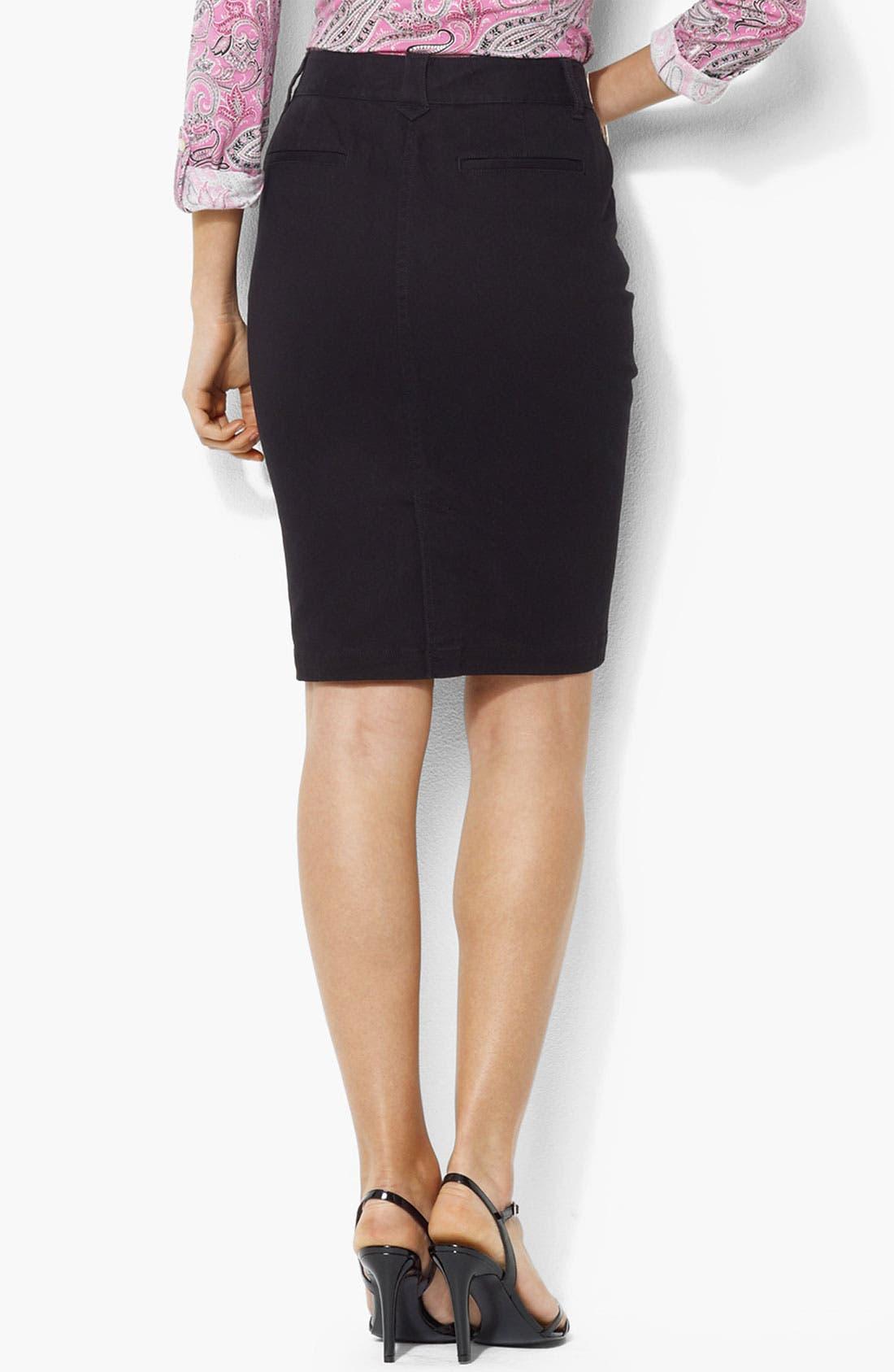 Alternate Image 2  - Lauren Ralph Lauren Denim Skirt (Plus)