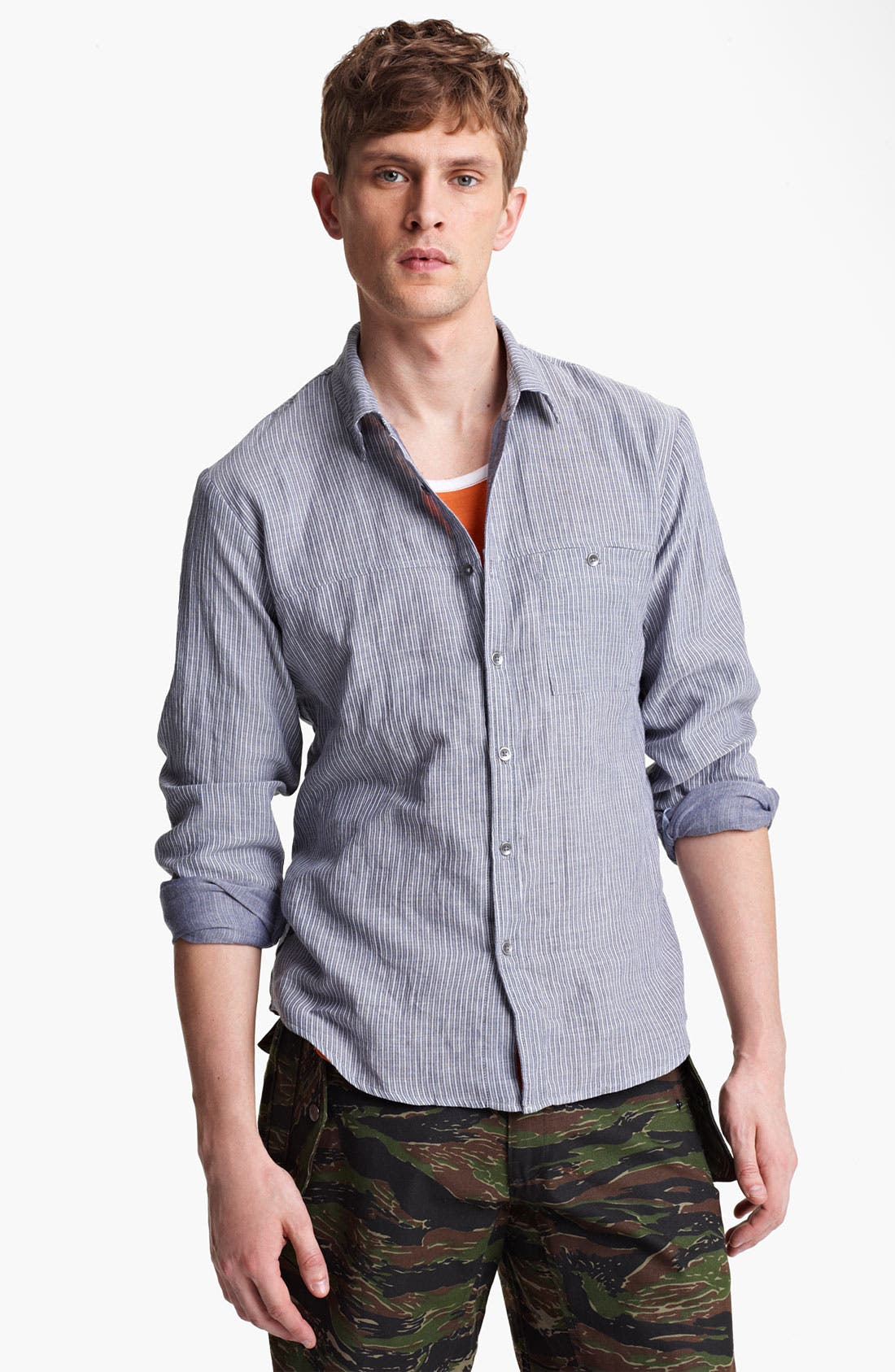 Alternate Image 1 Selected - Field Scout Stripe Woven Shirt