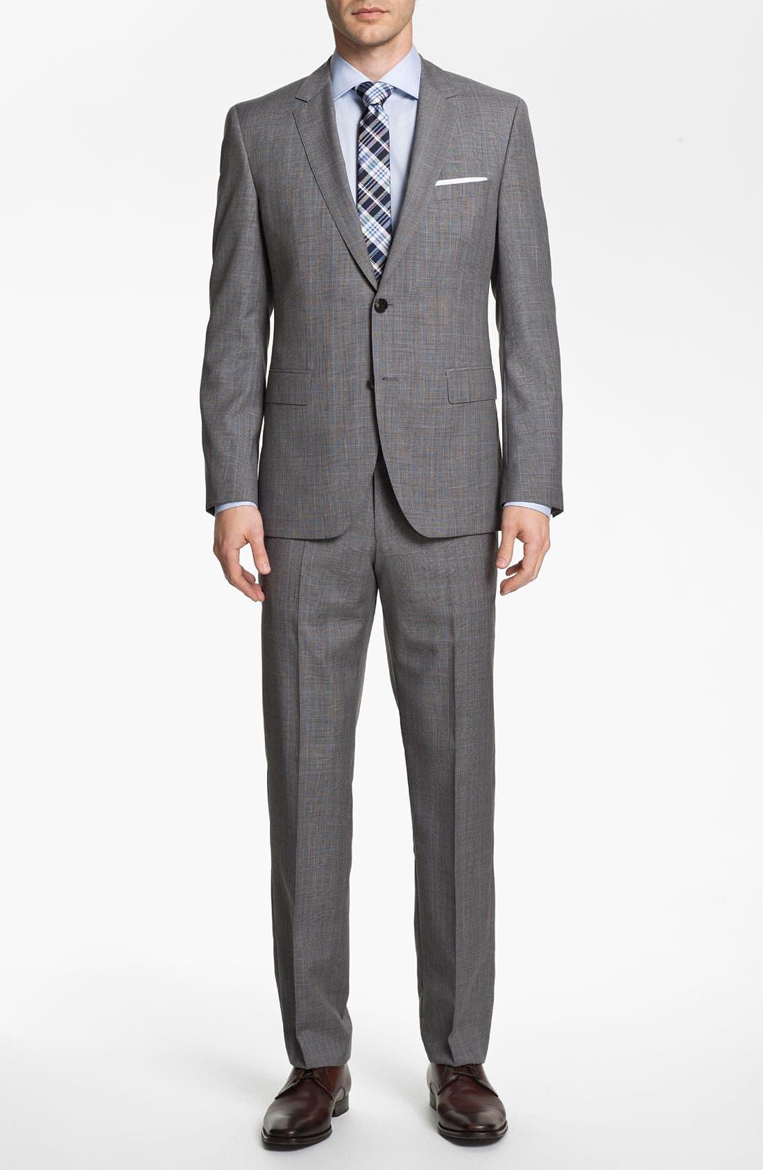 Alternate Image 2  - BOSS Black 'James/Sharp' Trim Fit Plaid Suit