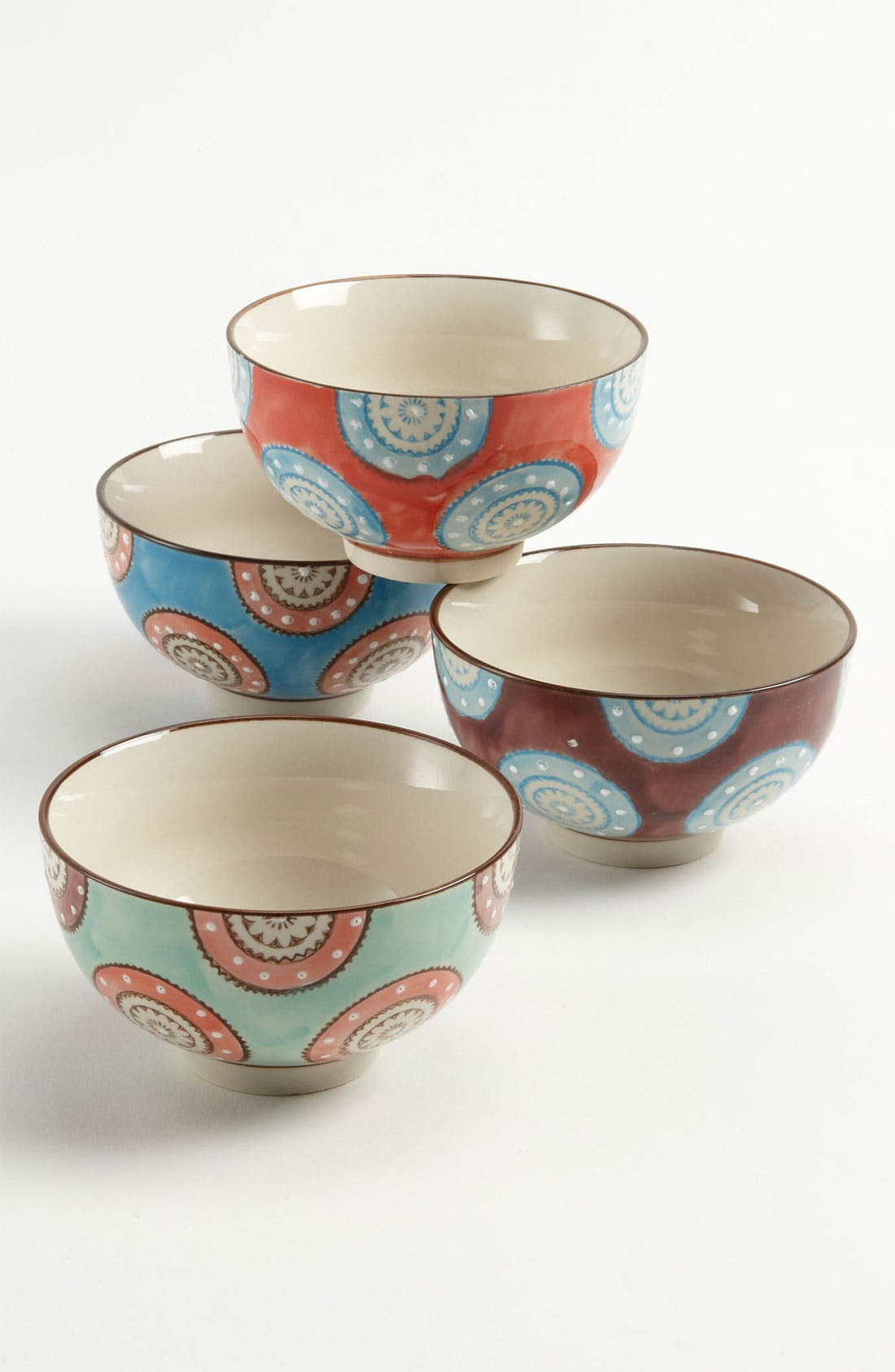 Alternate Image 1 Selected - Hand Painted Bowls (Set of 4)