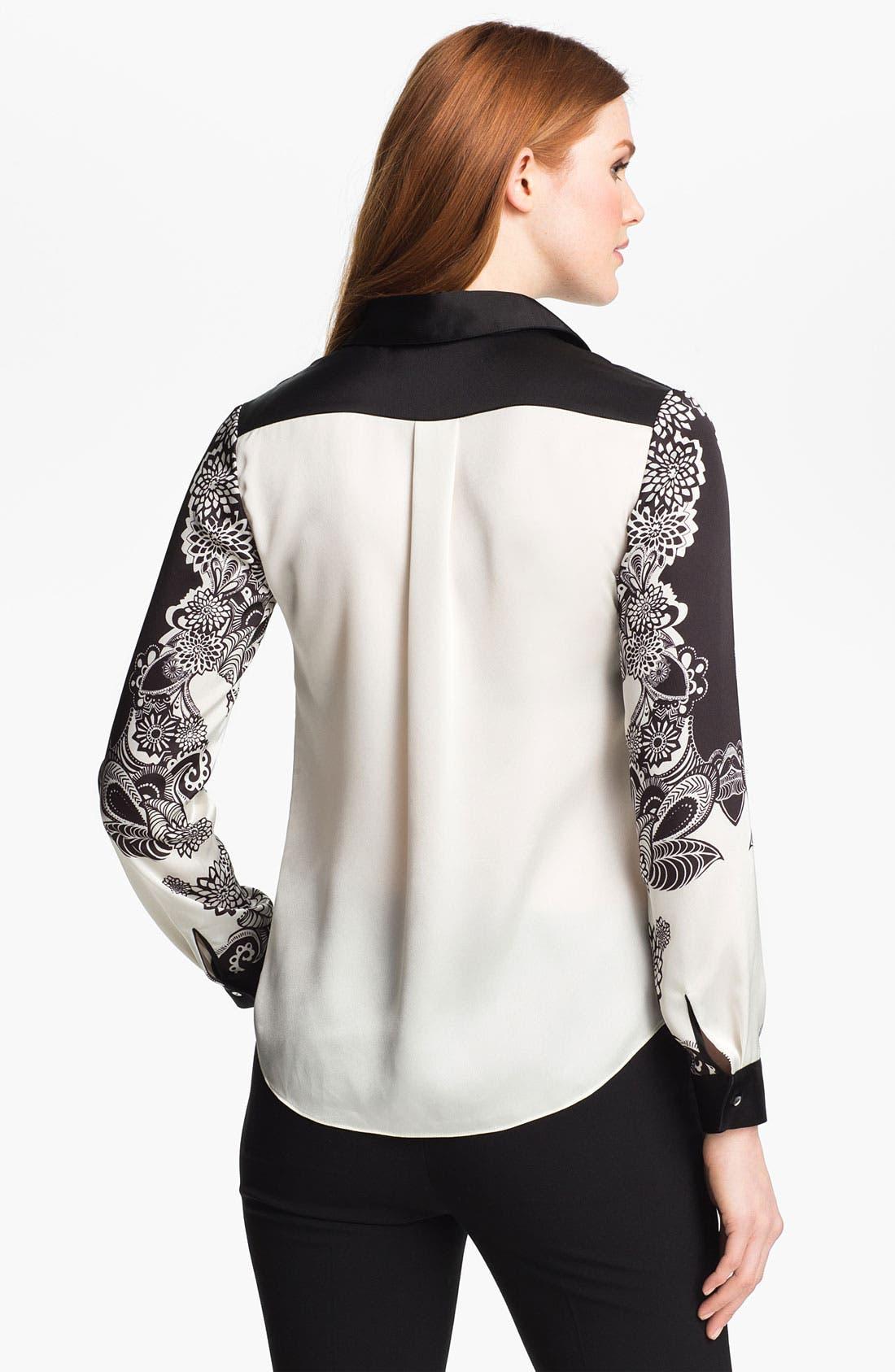 Alternate Image 2  - Adrianna Papell 'Engineered Print' Shirt
