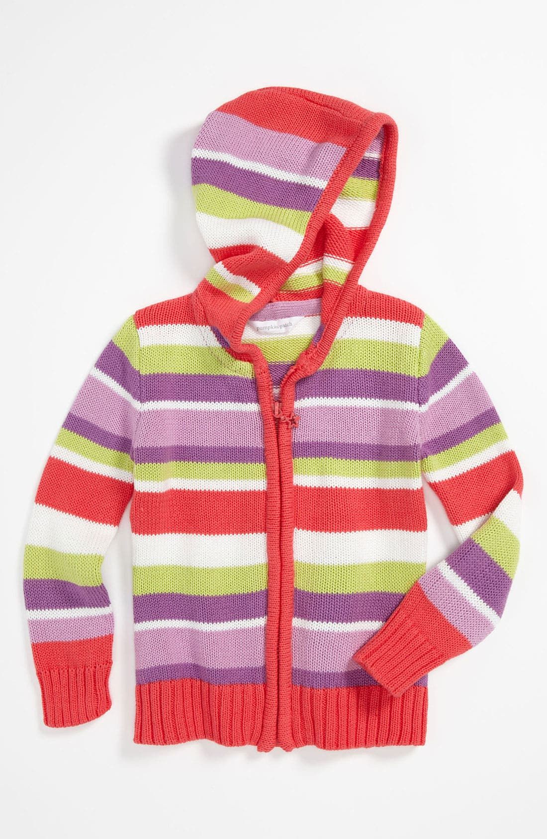 Main Image - Pumpkin Patch Hooded Cardigan (Toddler)