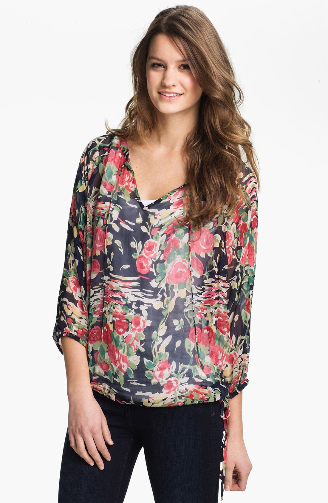 Alternate Image 1 Selected - Lucky Brand 'Cheremoya' Peasant Blouse