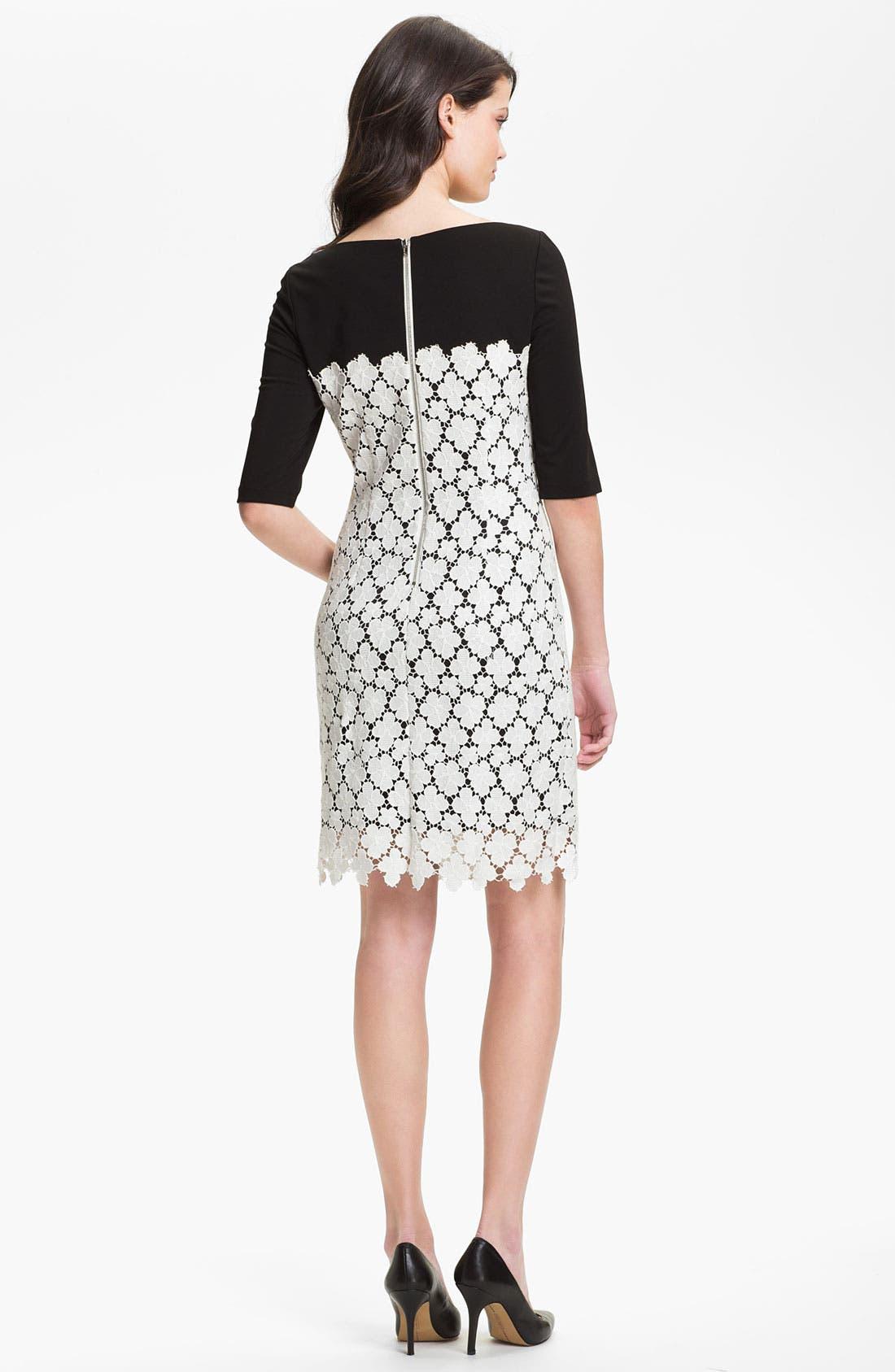 Alternate Image 2  - Suzi Chin for Maggy Boutique Lace Overlay Sheath Dress