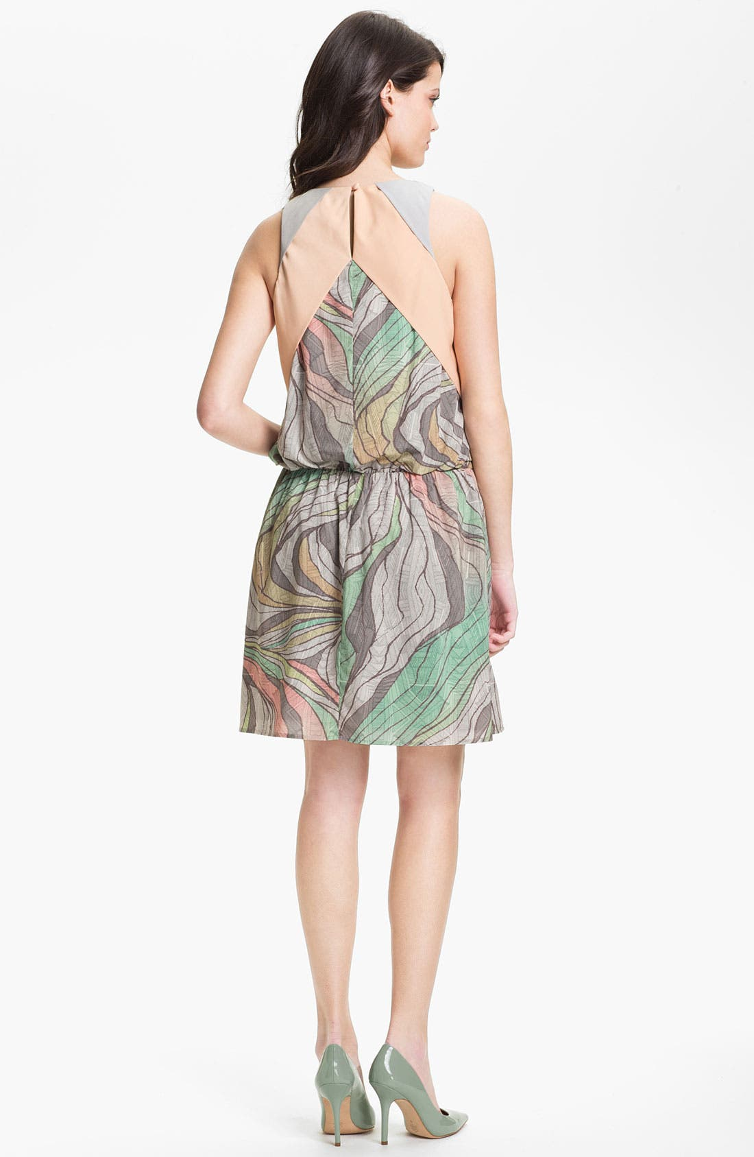 Alternate Image 2  - Jessica Simpson Print Blouson Chiffon Dress