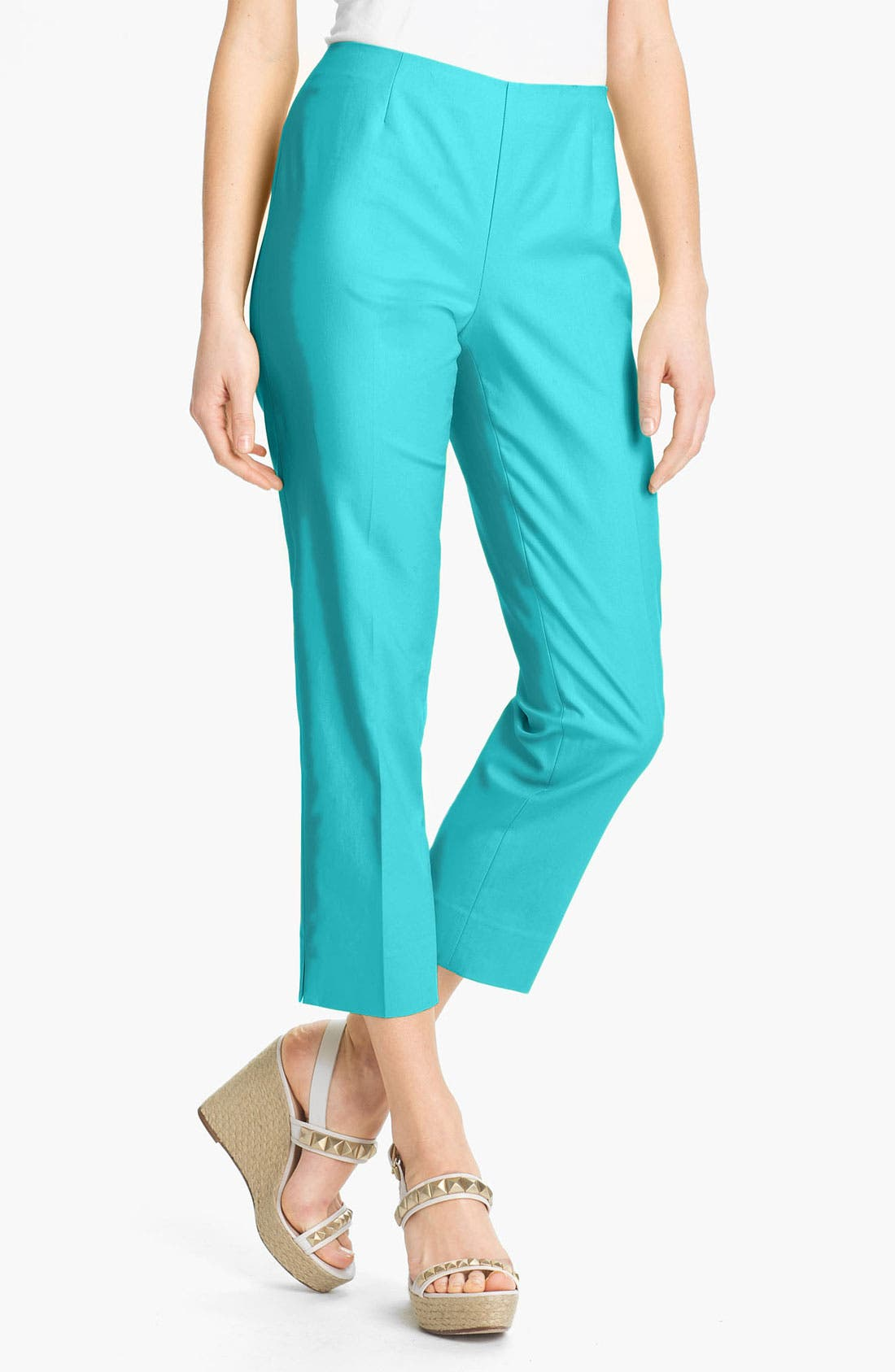 Alternate Image 1 Selected - Lafayette 148 New York 'Bleecker' Crop Pants