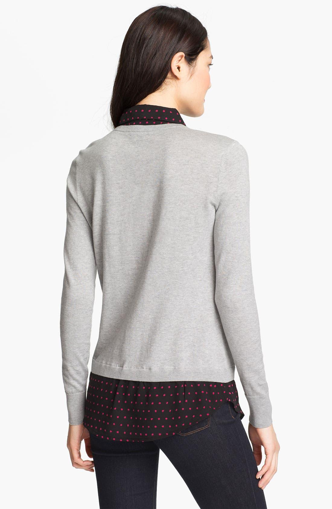 Alternate Image 2  - Halogen Mock Sweater & Blouse Set