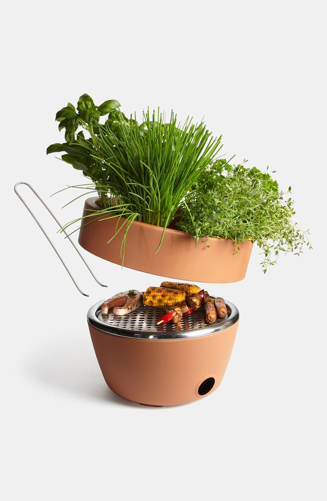 Alternate Image 1 Selected - black+blum Two-in-One Planter & Barbecue
