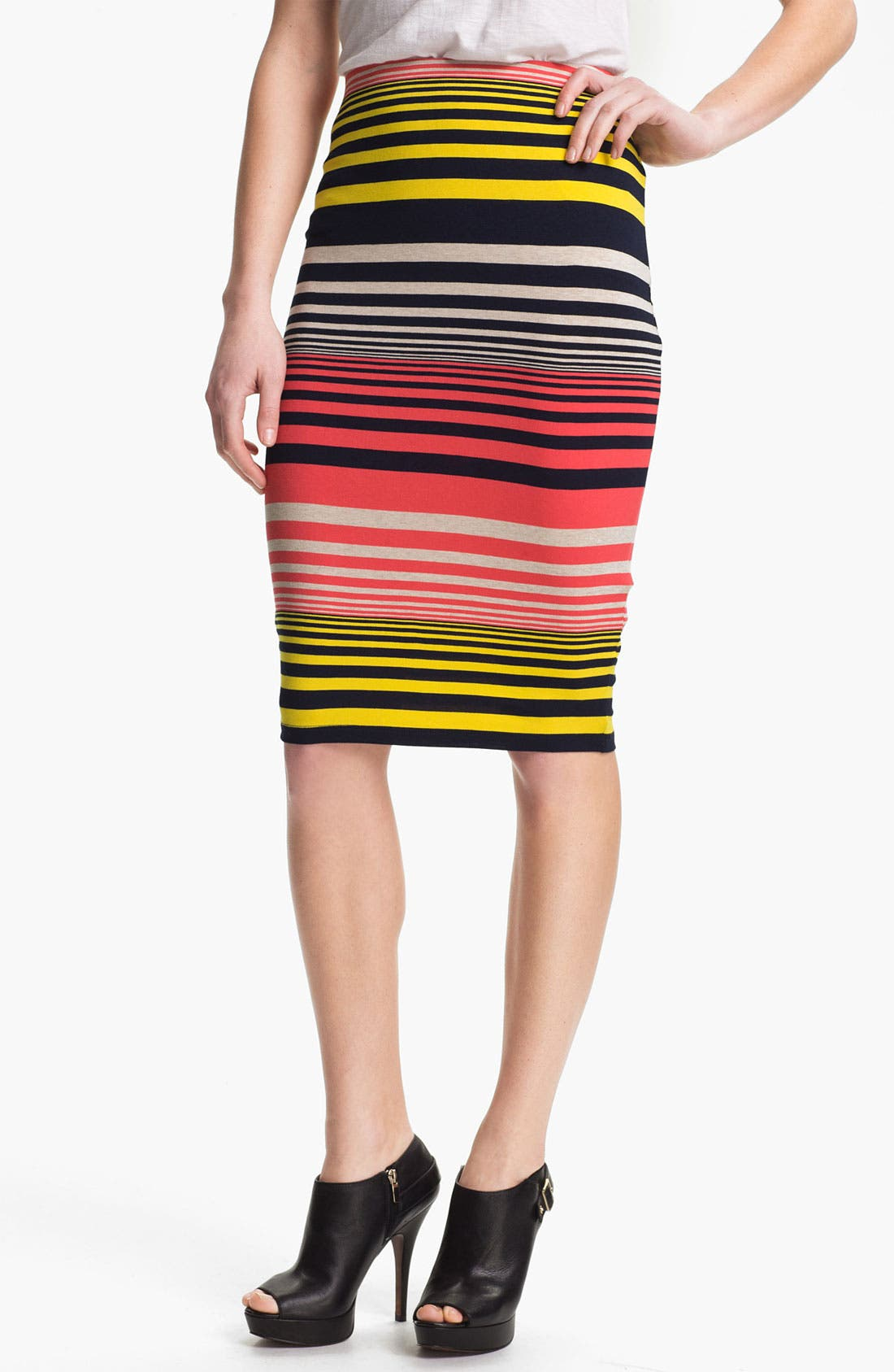 Alternate Image 1 Selected - Three Dots Stripe Tube Skirt