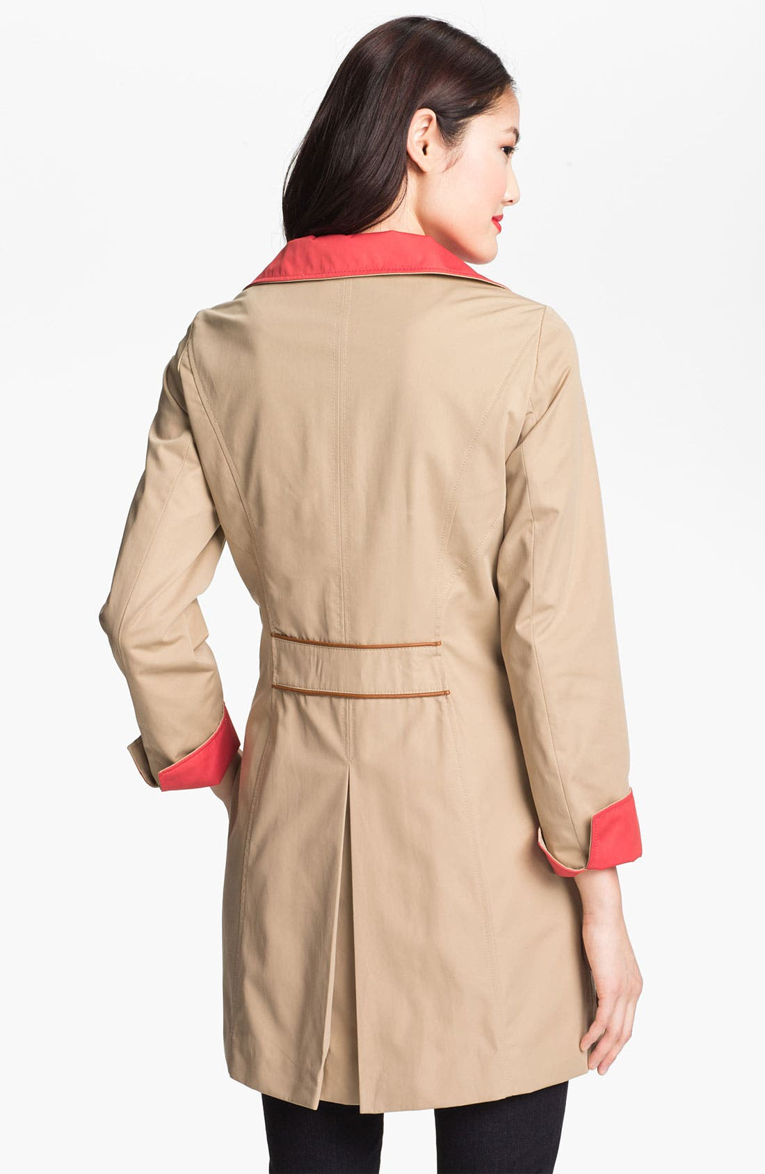 Alternate Image 2  - Ellen Tracy Two Tone Walking Coat (Online Only)