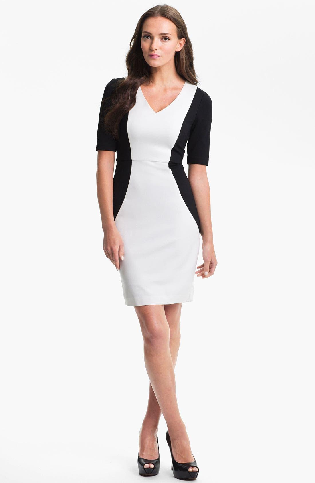 Alternate Image 1 Selected - Trina Turk 'Vamp' Stretch Knit Sheath Dress