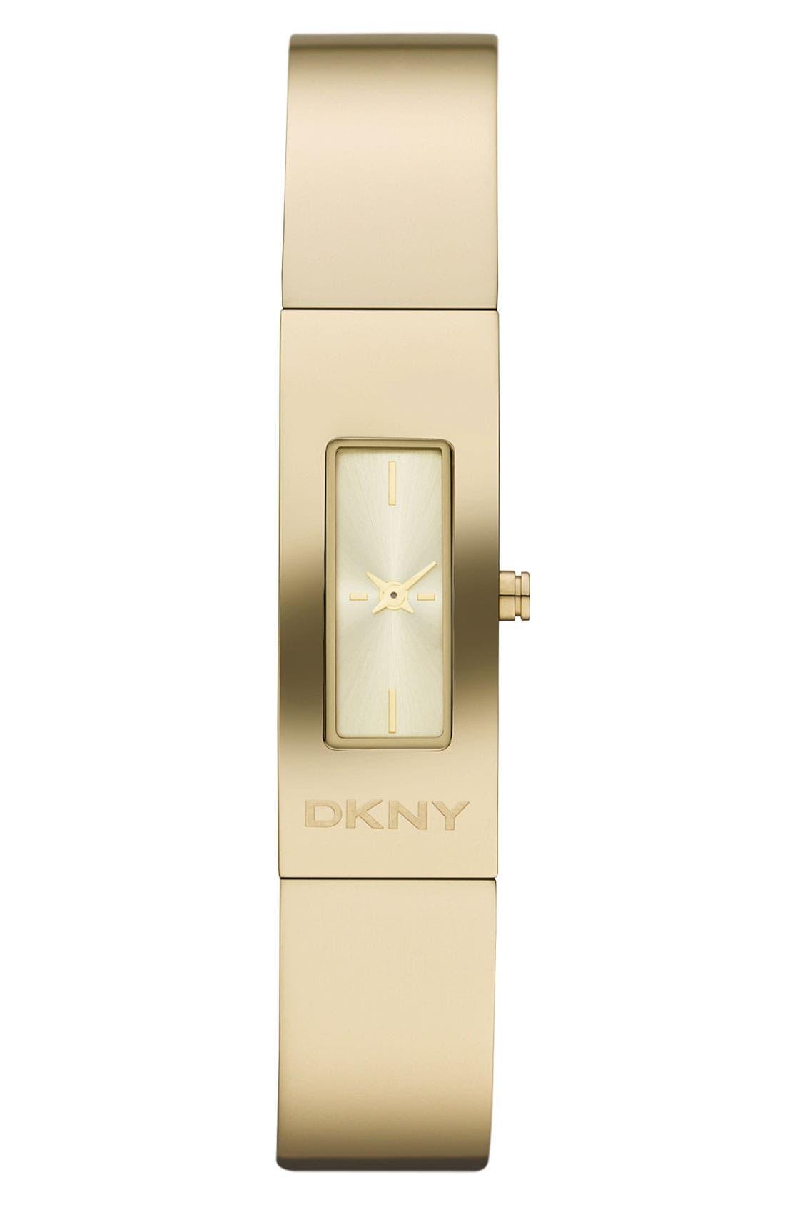 Alternate Image 1 Selected - DKNY 'Beekman' Logo Bangle Watch, 13mm x 33mm
