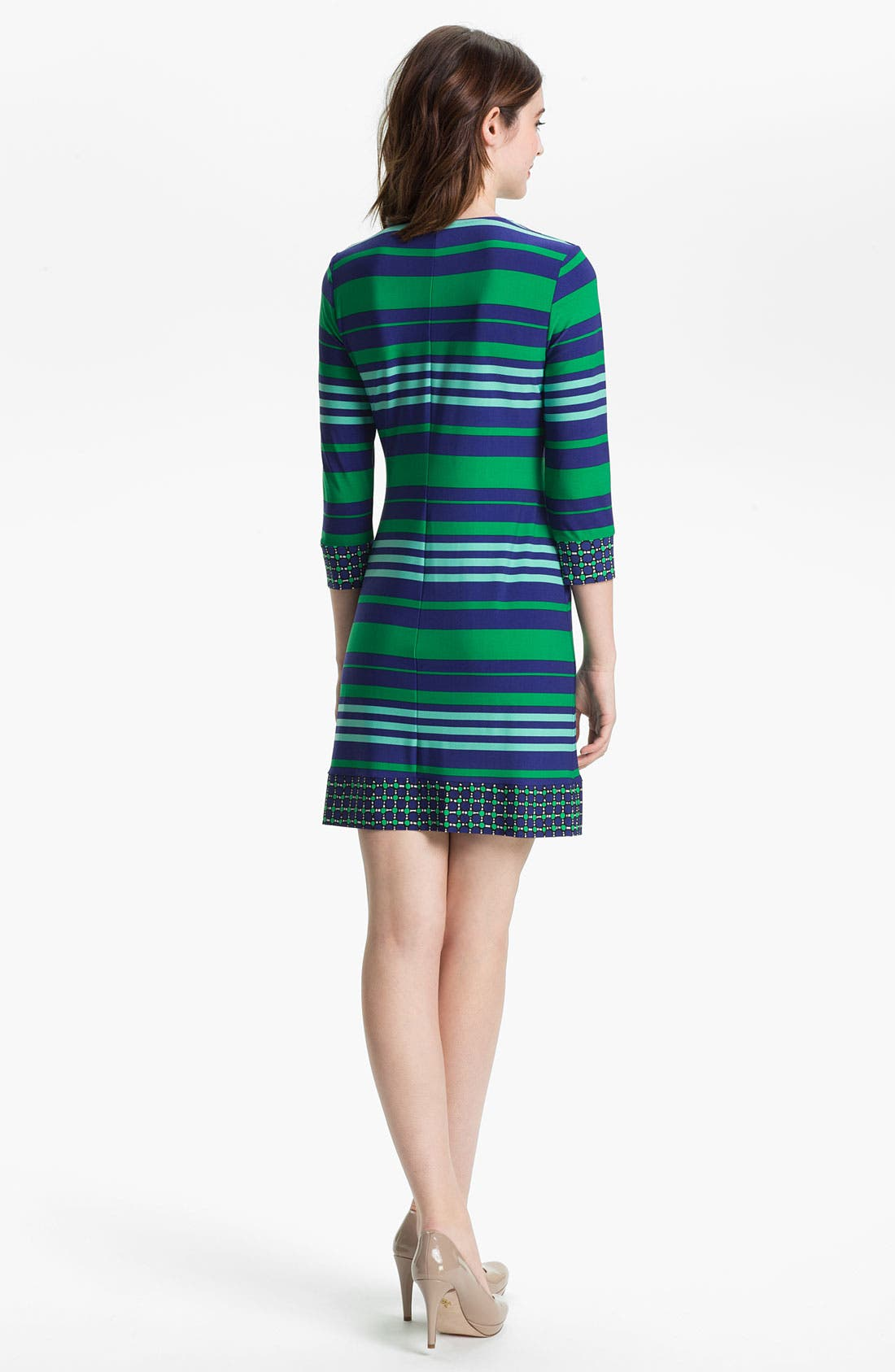 Alternate Image 2  - Donna Morgan Contrast Print & Stripe Sheath Dress