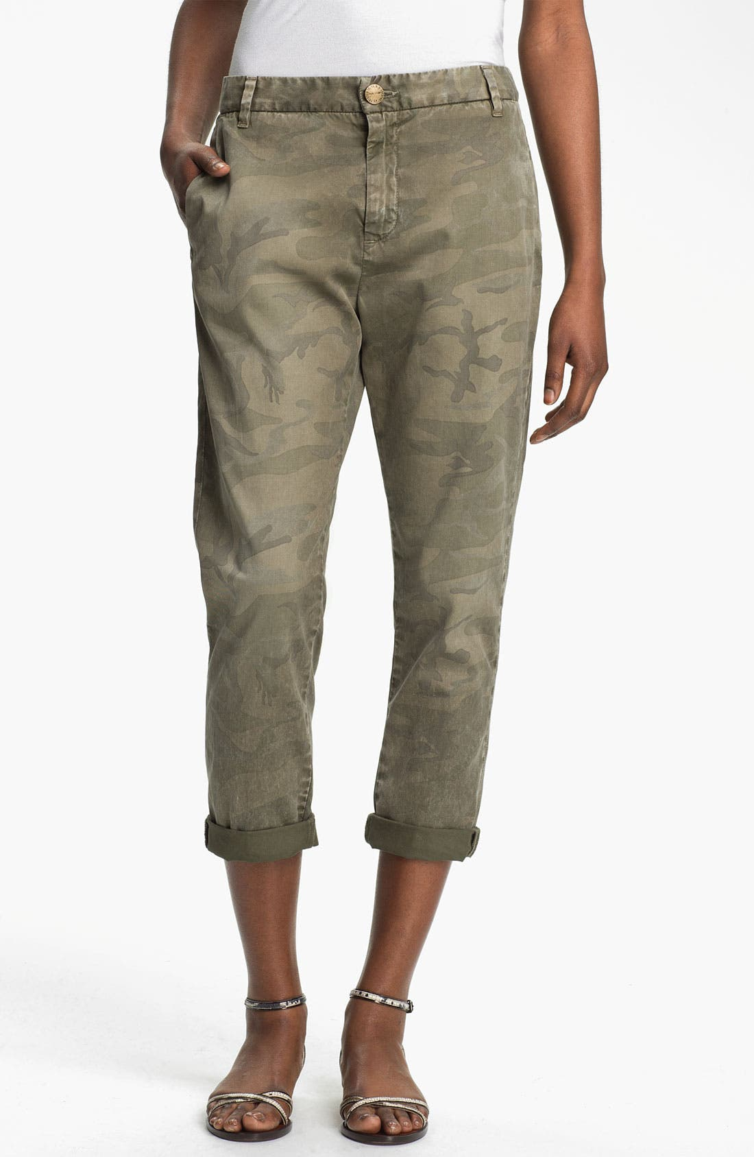 Alternate Image 1 Selected - Current/Elliott 'The Buddy' Print Twill Trousers