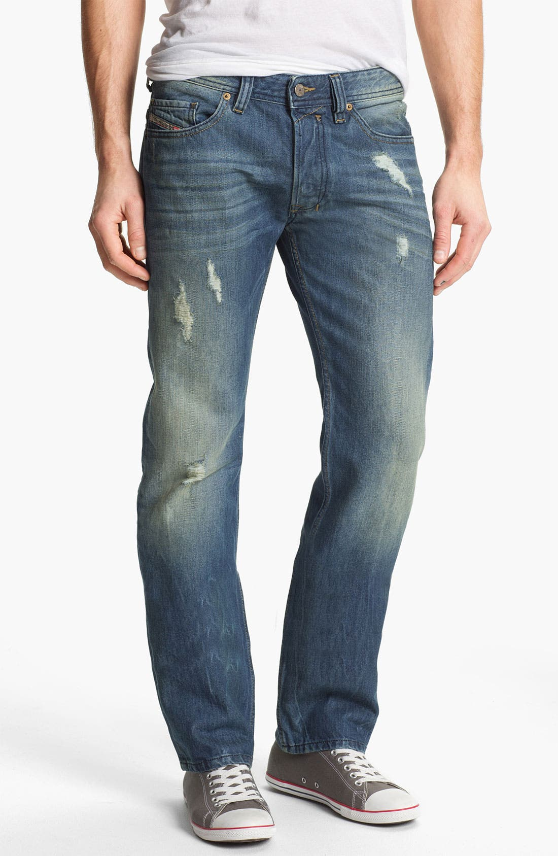 Alternate Image 1 Selected - DIESEL® 'Safado' Slim Straight Leg Jeans (0075I) (Online Only)