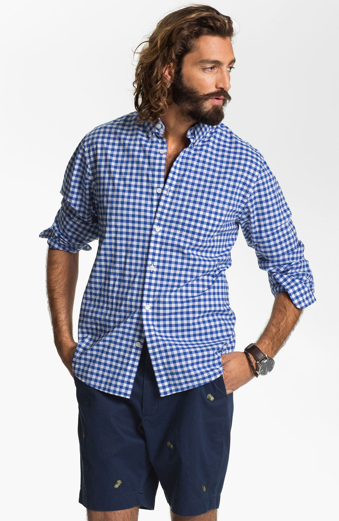 Alternate Image 1 Selected - Bonobos Gingham Standard Fit Sport Shirt