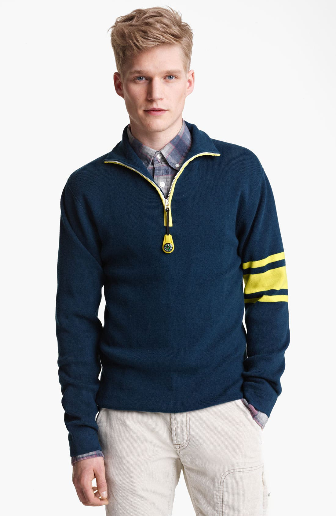 Main Image - Gant by Michael Bastian Quarter Zip Knit Pullover