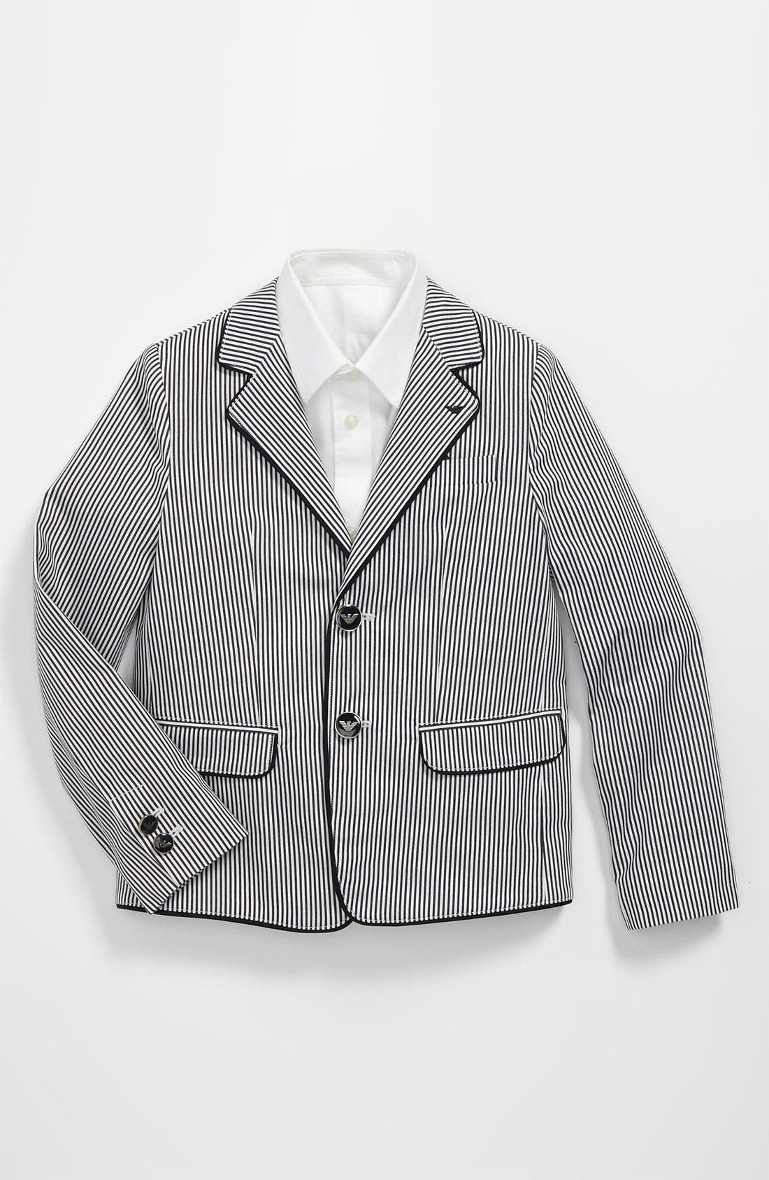Alternate Image 1 Selected - Armani Junior Stripe Jacket (Toddler & Little Boys)