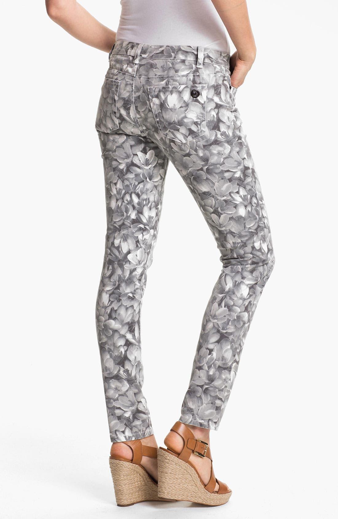 Alternate Image 2  - MICHAEL Michael Kors Wildflower Print Skinny Ankle Jeans