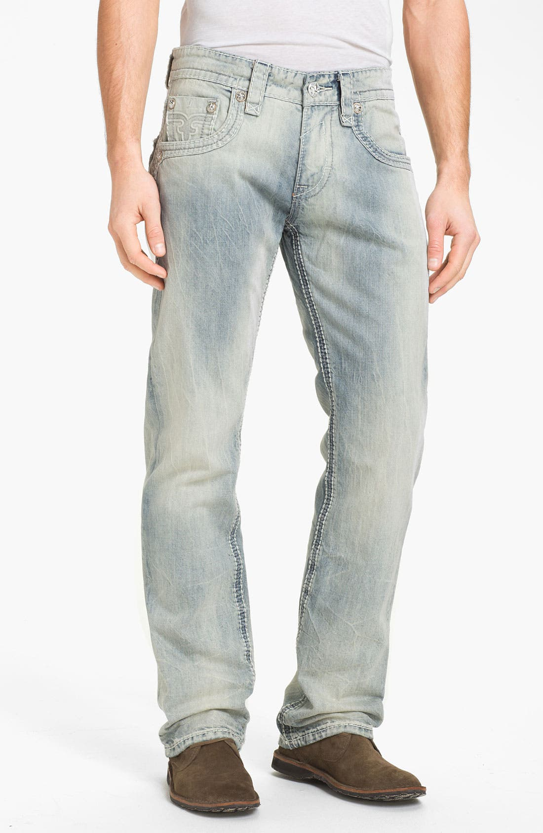 Alternate Image 2  - Rock Revival 'Rocky T' Straight Leg Jeans (Light Blue)