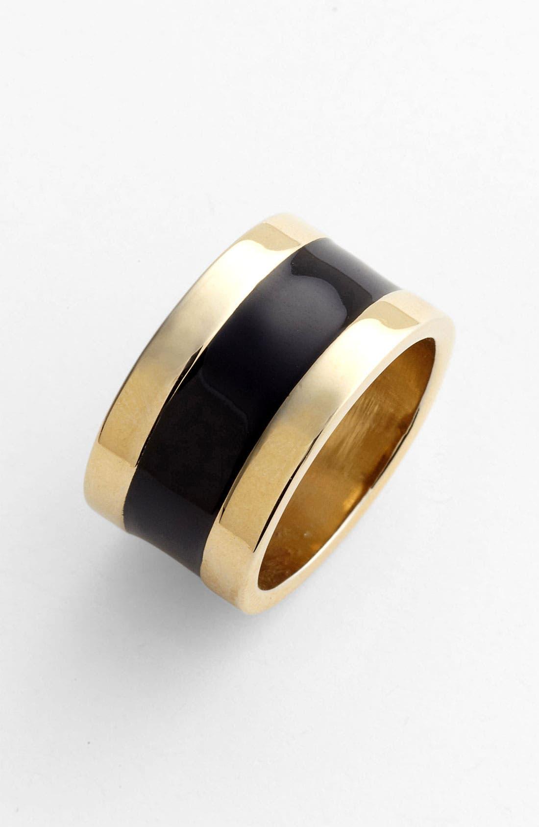 Alternate Image 1 Selected - St. John Collection Light Gold & Enamel Ring