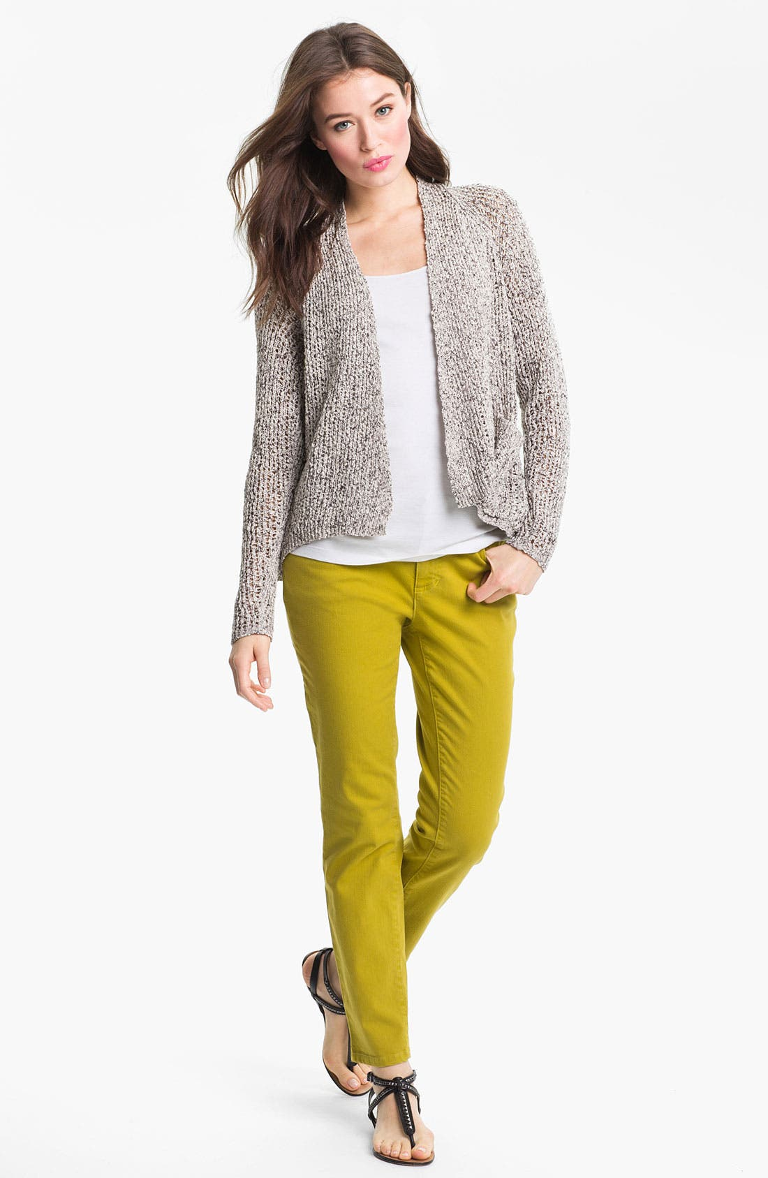 Alternate Image 4  - Eileen Fisher Raglan Sleeve Cardigan