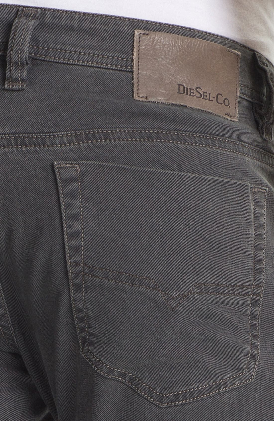 Alternate Image 4  - DIESEL® 'Viker' Straight Leg Jeans (Grey)