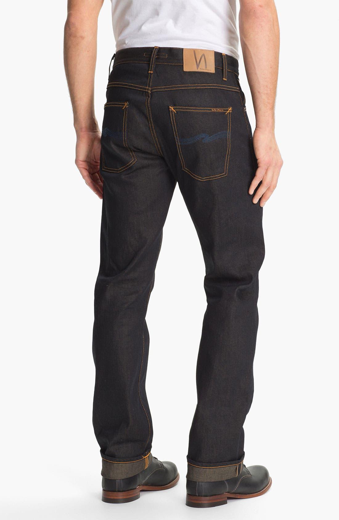 Main Image - Nudie 'Average Joe' Straight Leg Jeans (Organic Dry Brown Selvedge)