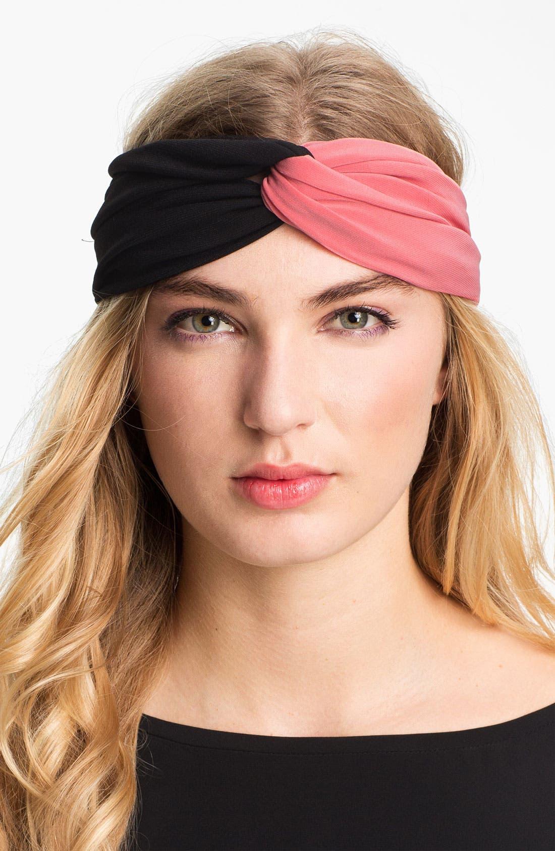 Alternate Image 1 Selected - Tasha Two Tone Turban Head Wrap
