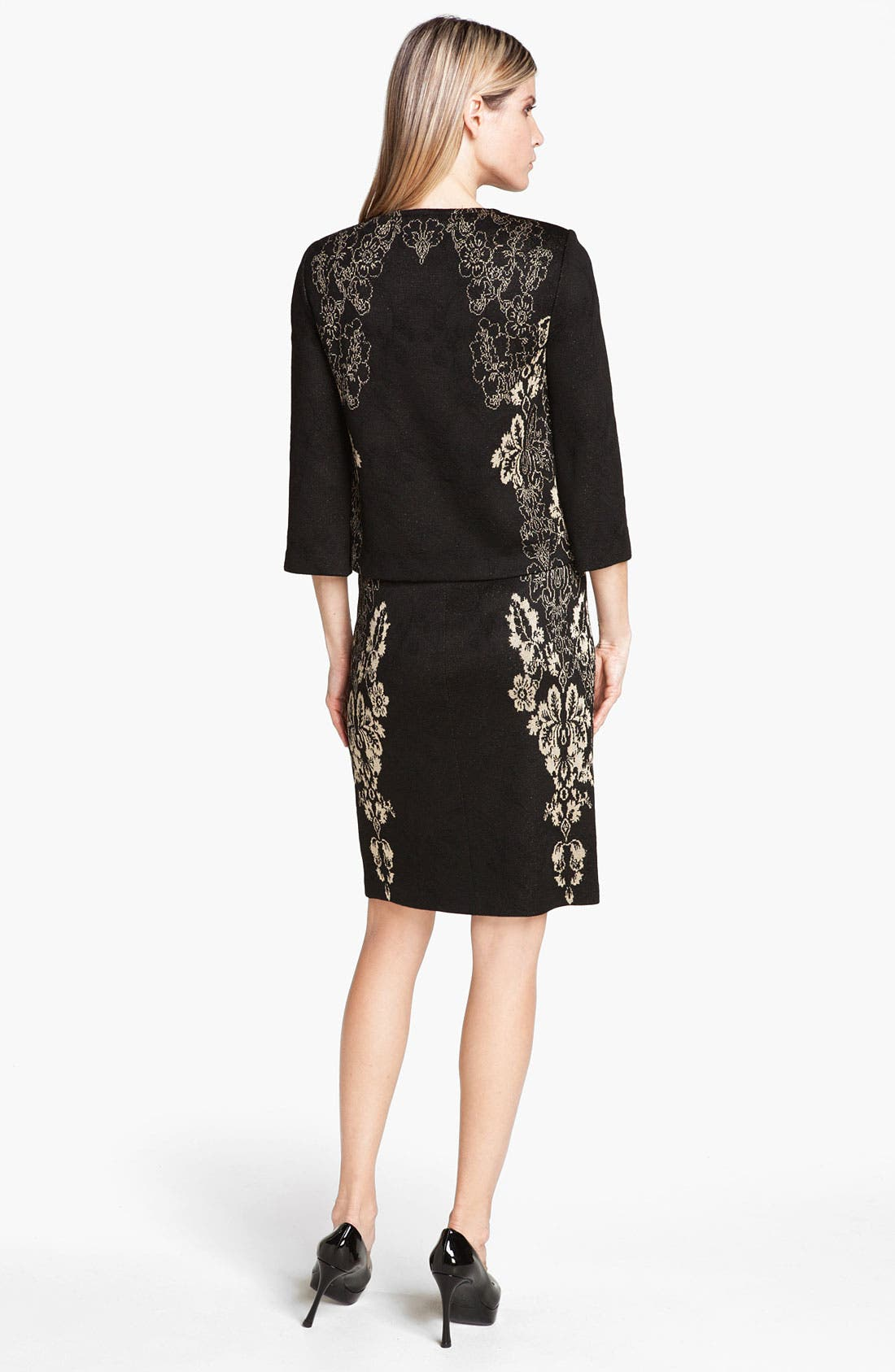 Alternate Image 4  - St. John Collection Floral Jacquard Knit Jacket