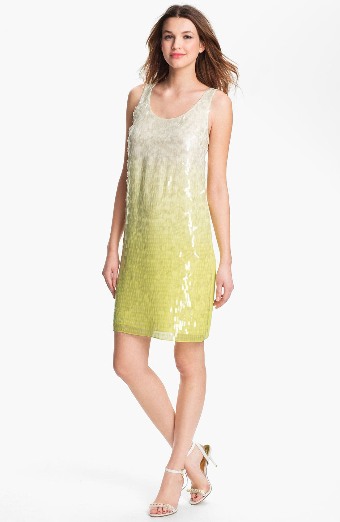 Alternate Image 1 Selected - ERIN erin fetherston Sequin Silk Tank Dress