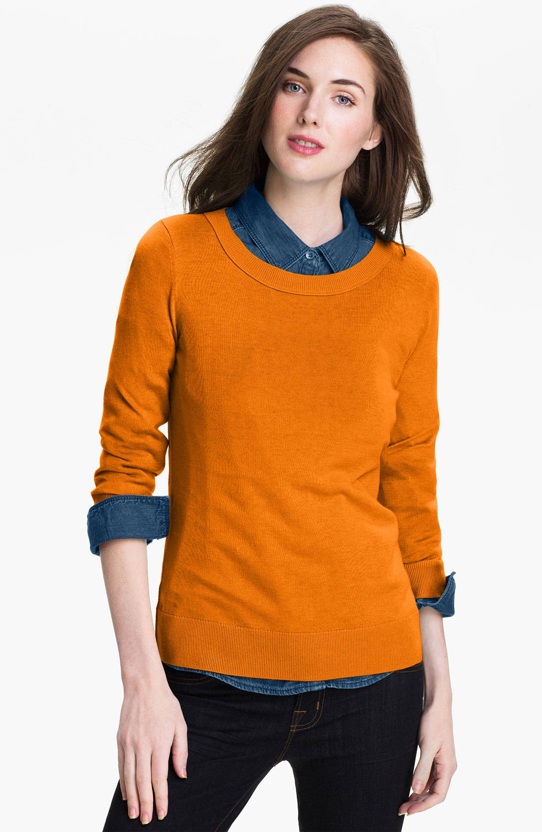 Alternate Image 1 Selected - Halogen® Crewneck Sweater